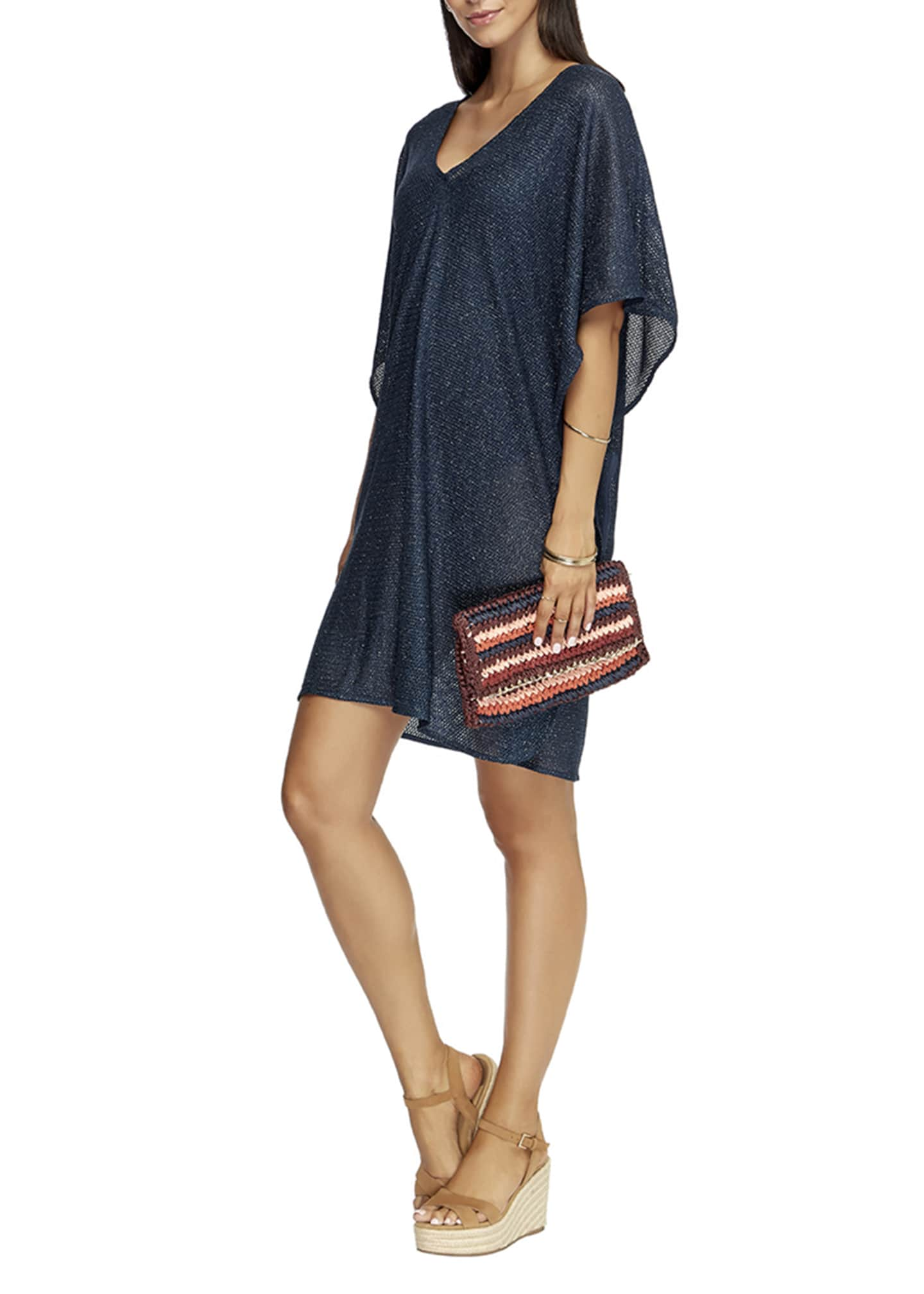 JETS by Jessika Allen Mirage V-Neck Coverup Kaftan