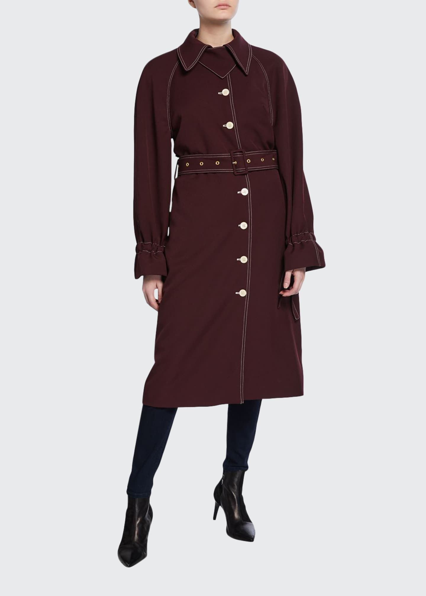 Stine Goya Flo Belted Long Trench Coat