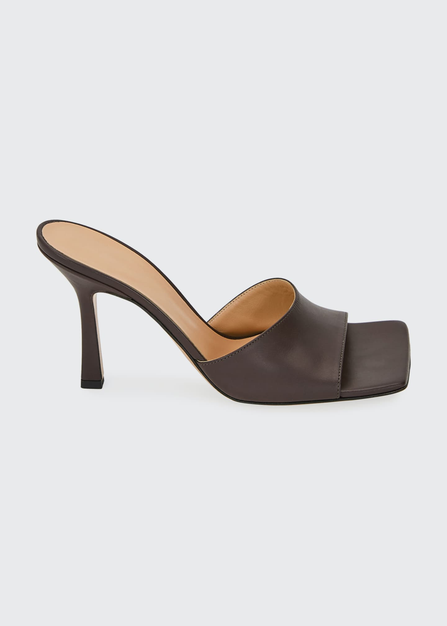 Image 1 of 5: Square-Toe Open Mules