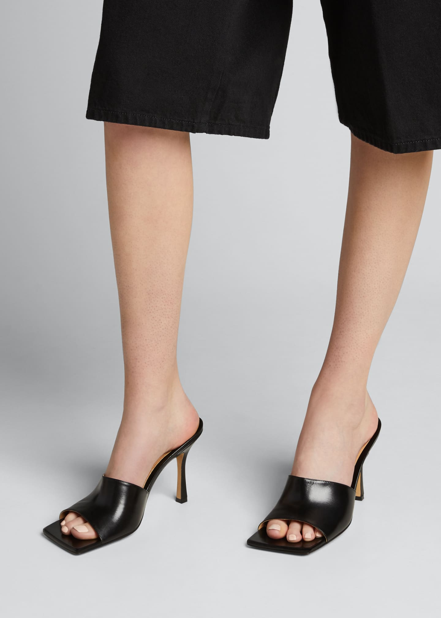 Image 2 of 5: Square-Toe Open Mules