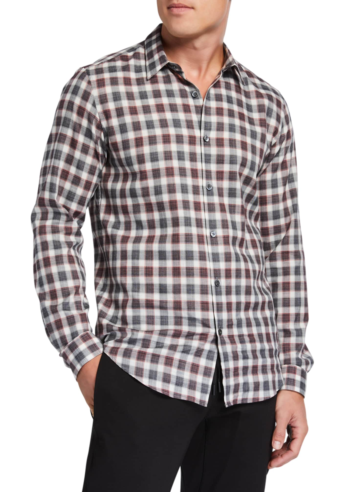 Theory Men's Irving Betton Check Sport Shirt