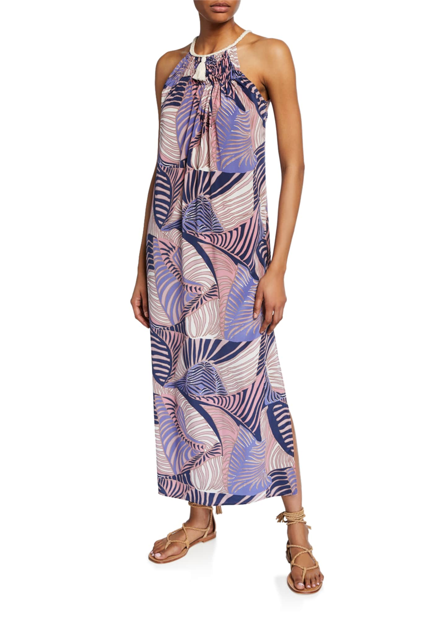 Jaline Valerie Sleeveless Coverup Dress with Braided Collar