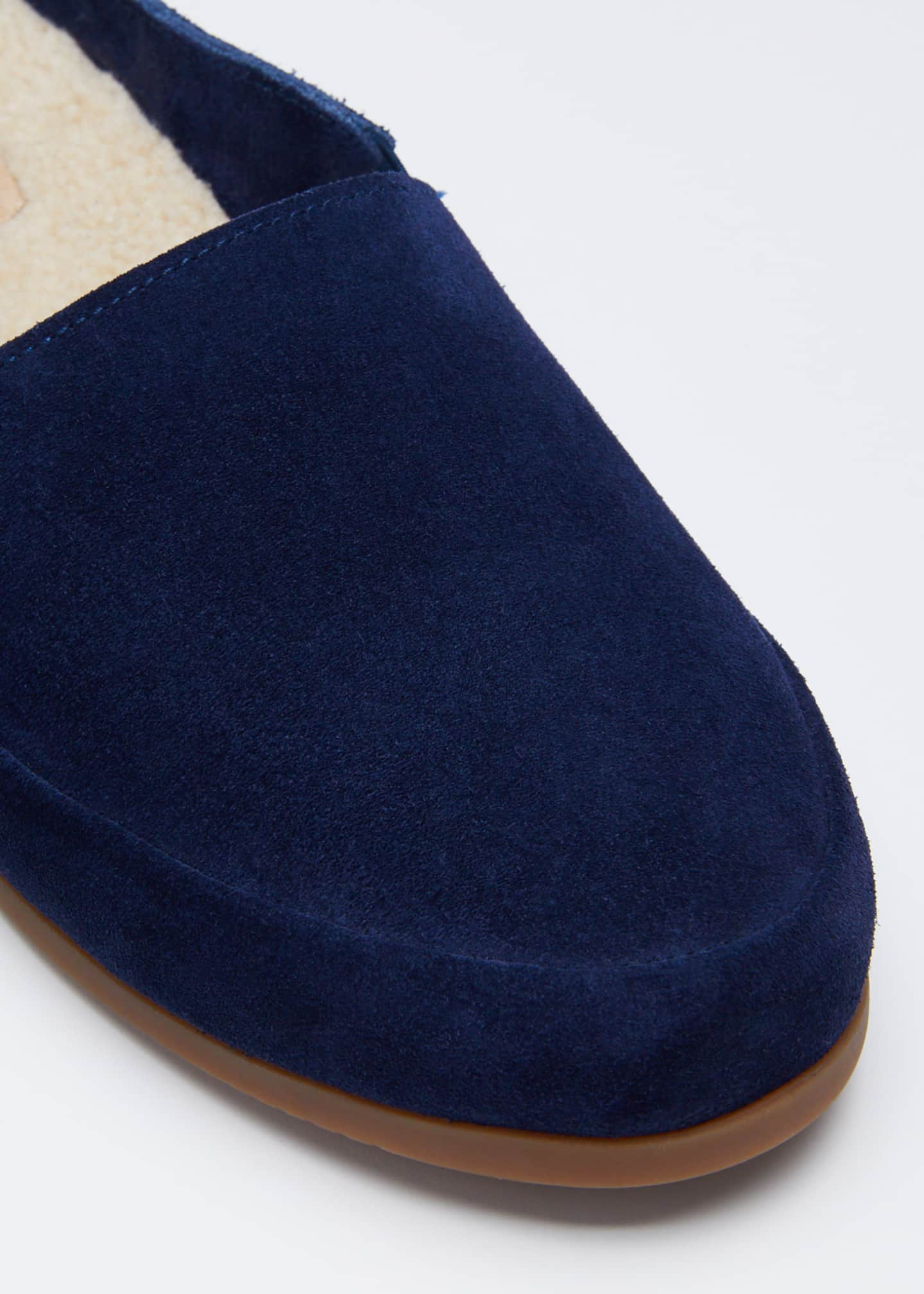 Image 3 of 3: Men's Suede Shearling Slippers