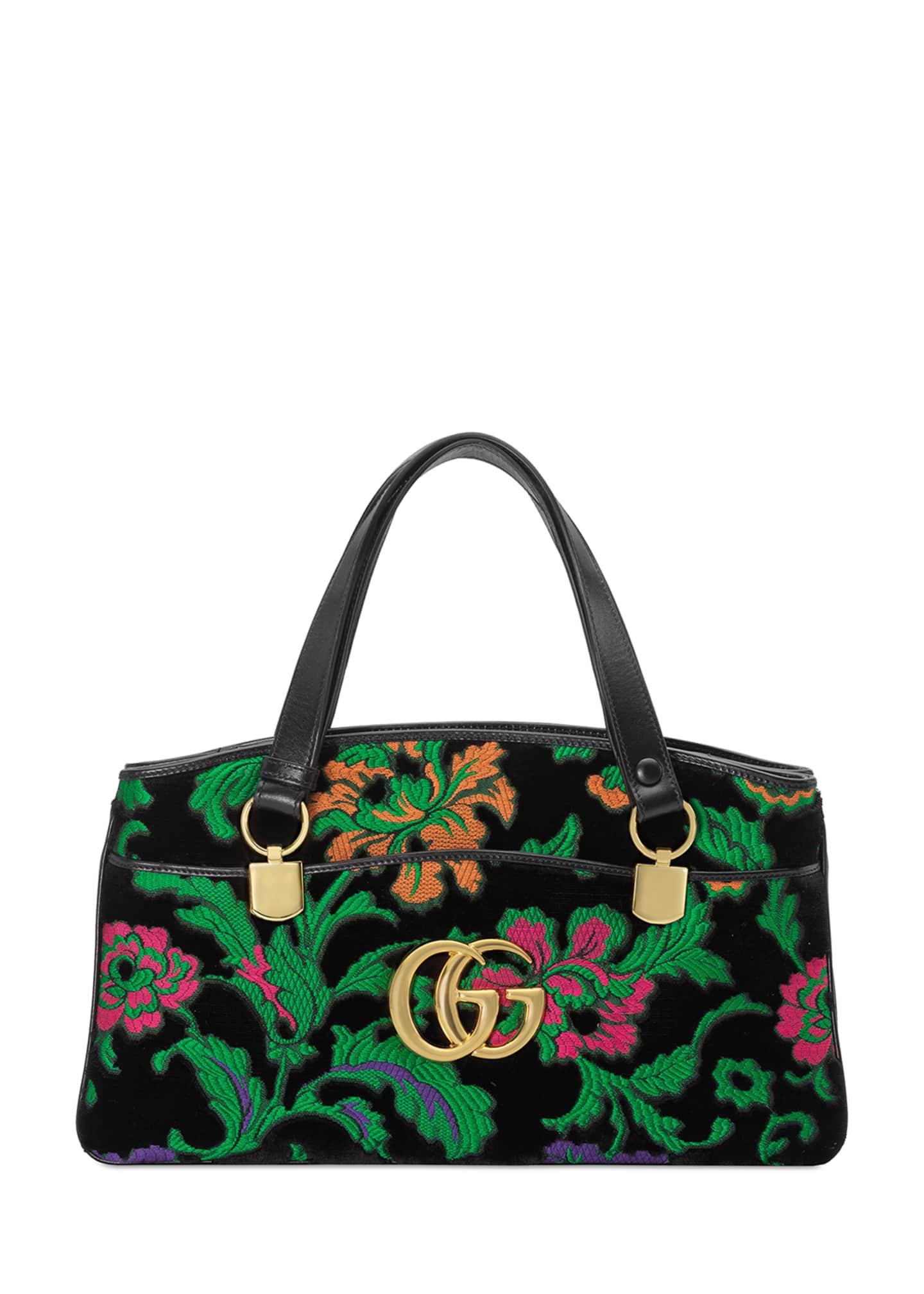 Gucci Arli Medium Velvet Top-Handle Bag