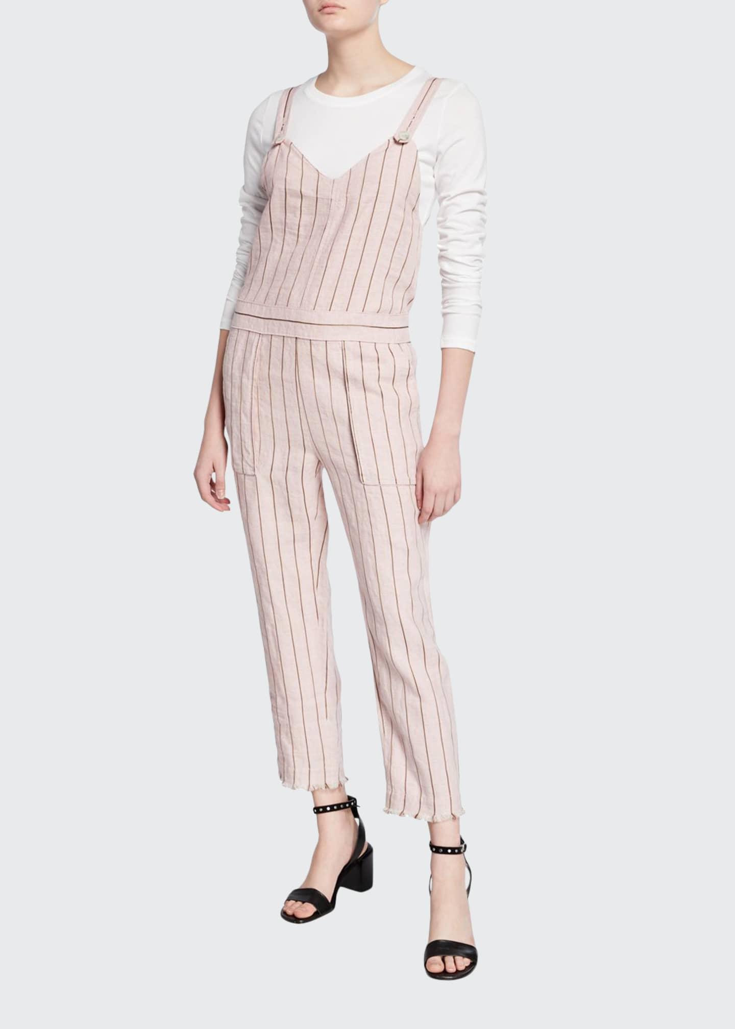 Rag & Bone Nina Striped Linen Jumpsuit