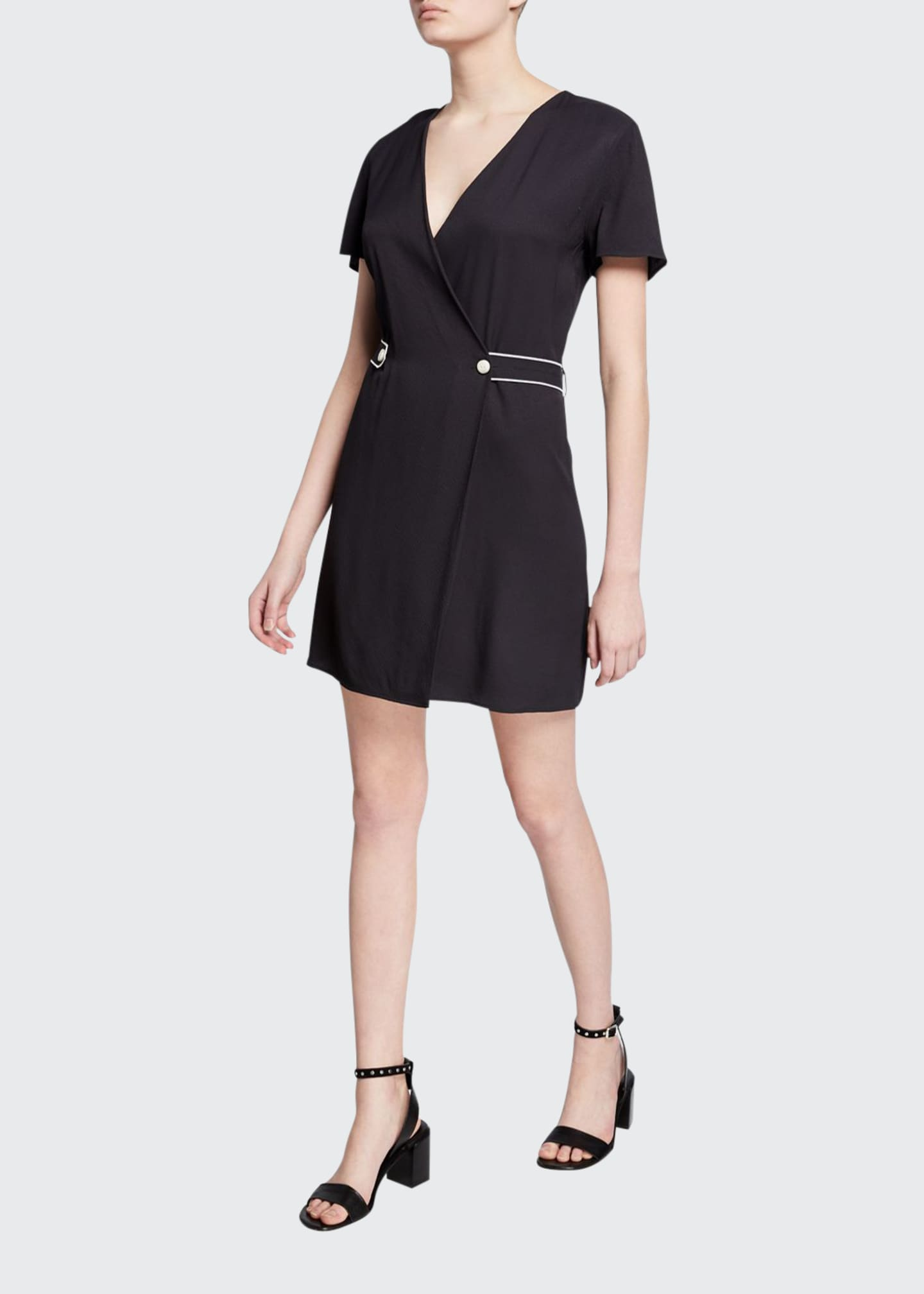 Rag & Bone Tabitha Short-Sleeve Wrap Dress