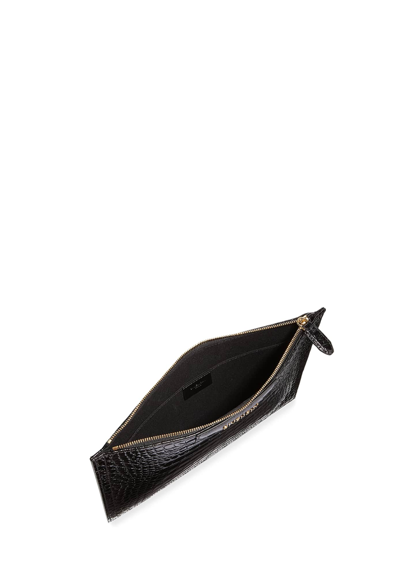 Image 2 of 2: Antigona Croc-Embossed Medium Pouch Bag