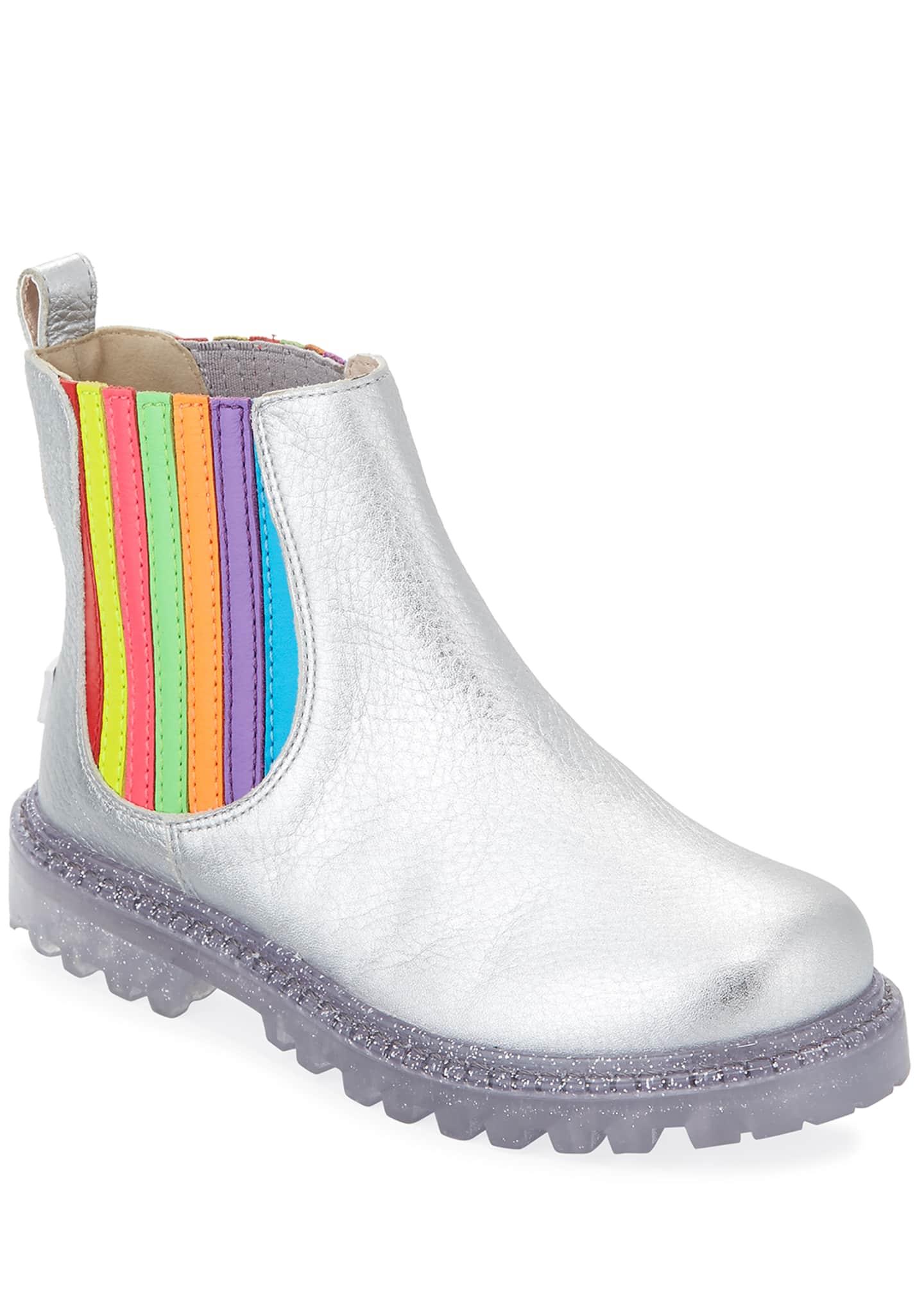 Sophia Webster Lara Rainbow Metallic Leather Boots,