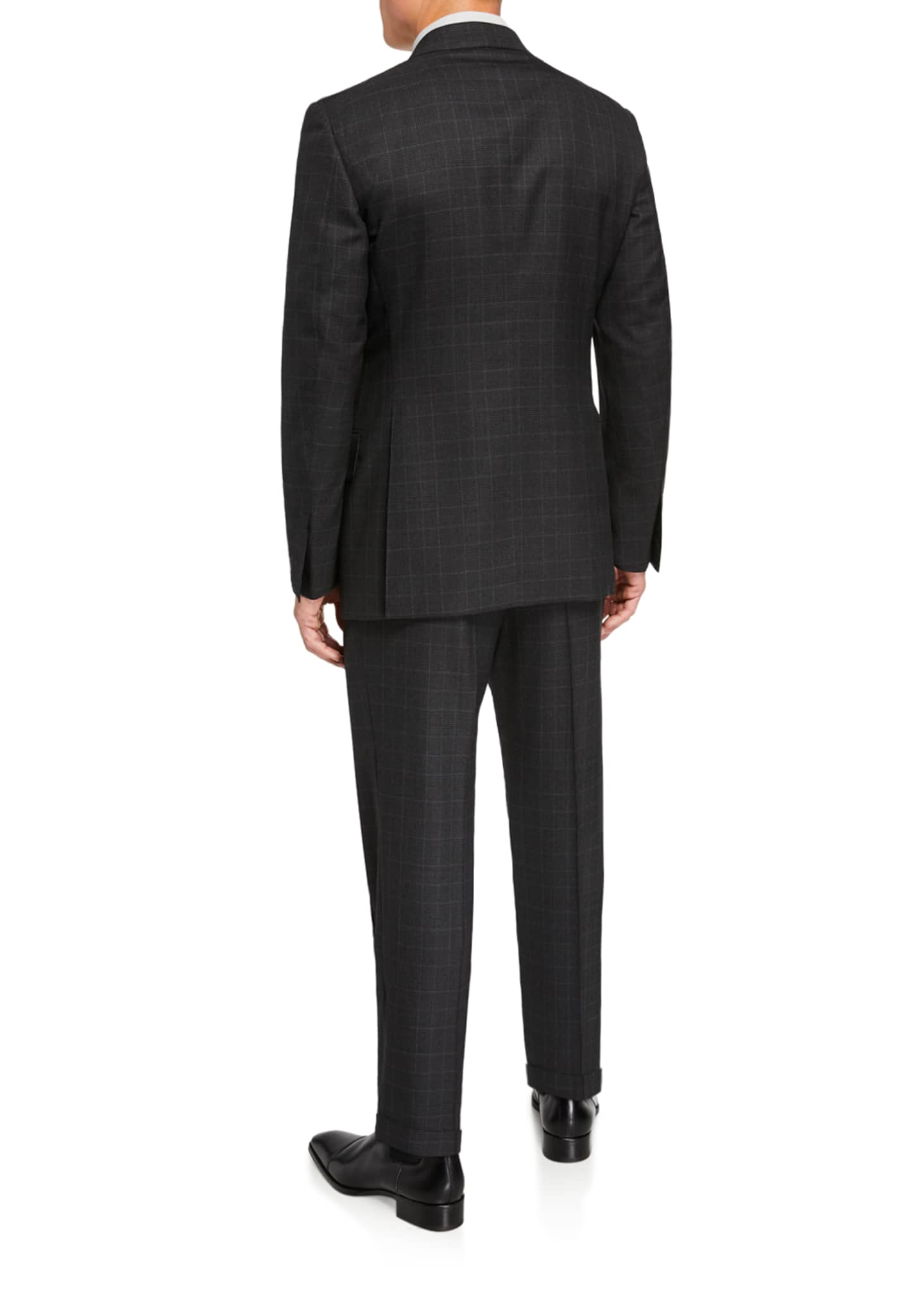 Image 3 of 4: Men's Windsor Prince-of-Wales Check Two-Piece Suit