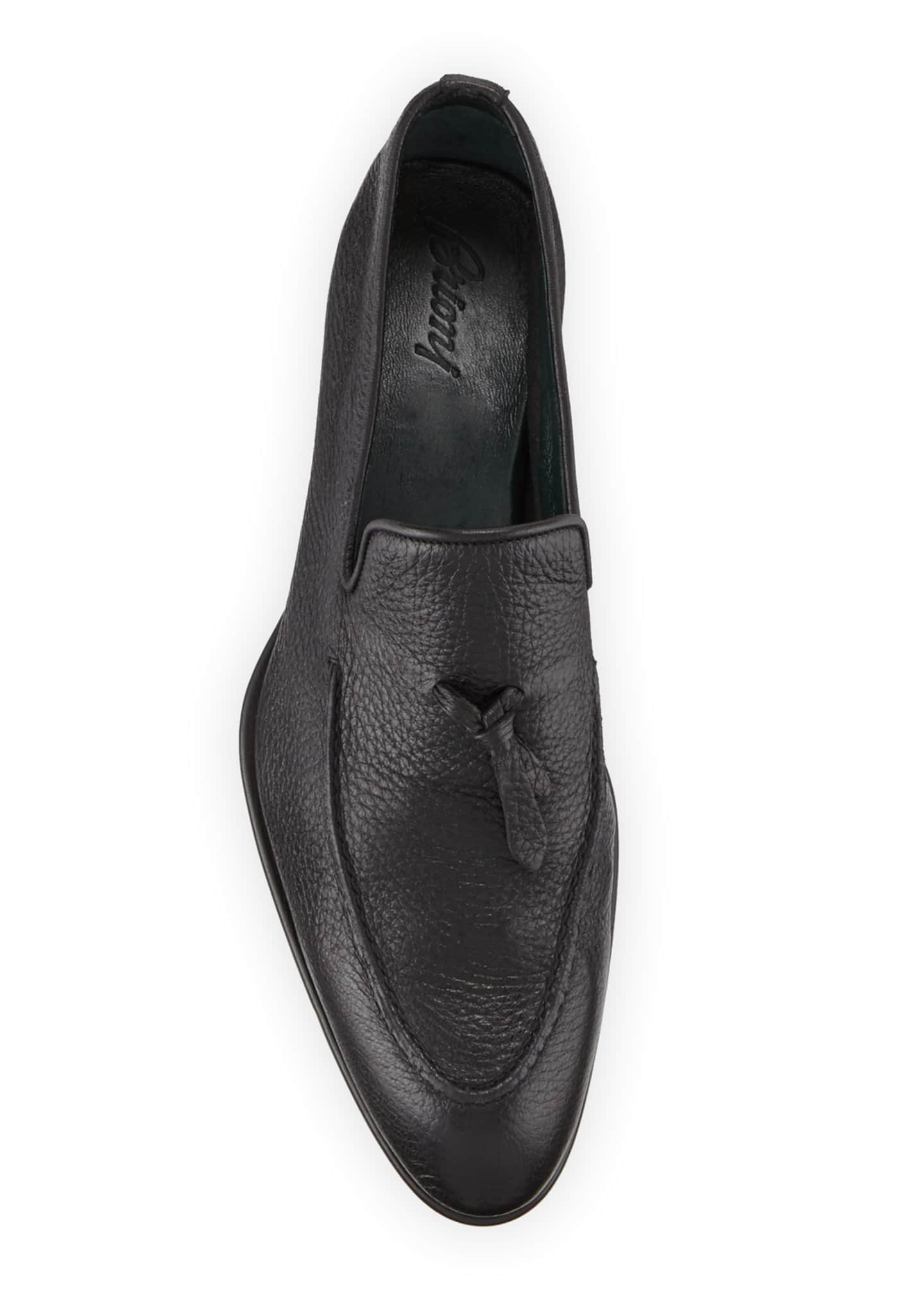 Image 2 of 3: Men's Tie-Front Deerskin Leather Loafer