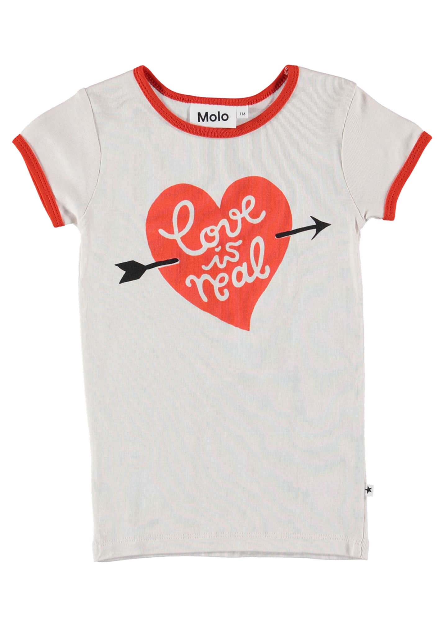 Molo Rhiannon Love Is Real Ringer Tee, Size