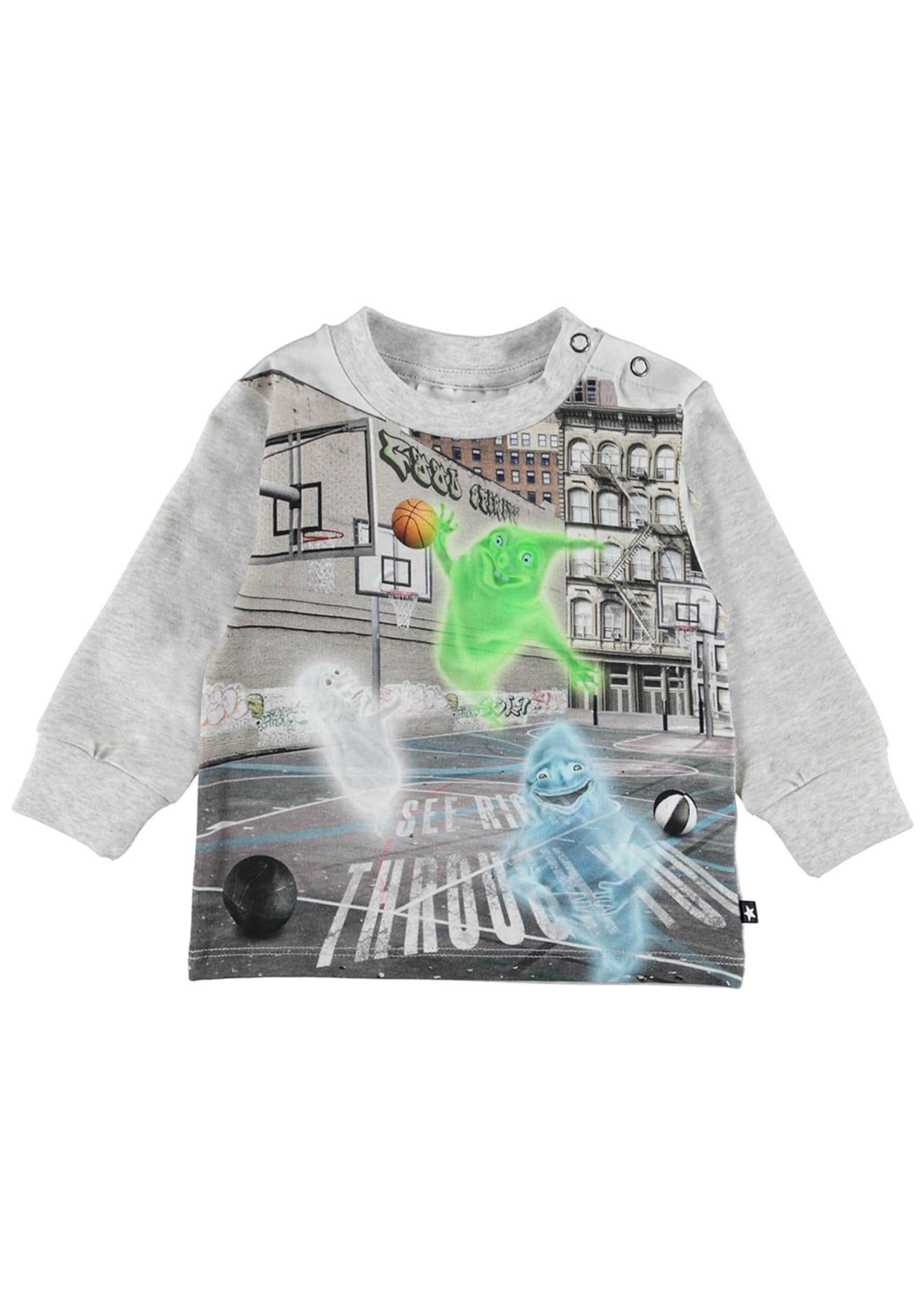 Molo Eloy Ghosts Playing Basketball Graphic Tee, Size