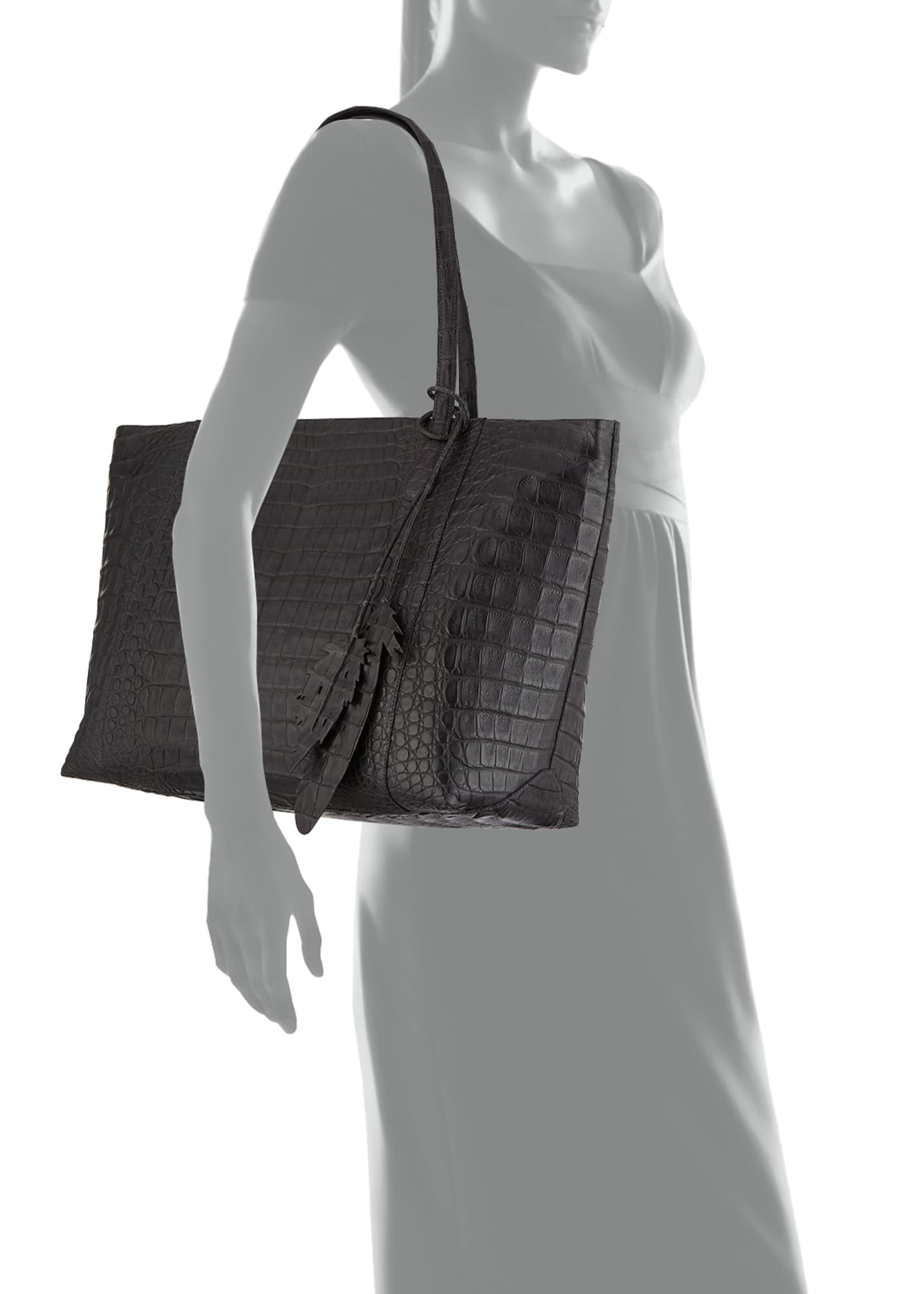 Image 3 of 3: Erica Crocodile Tote Bag