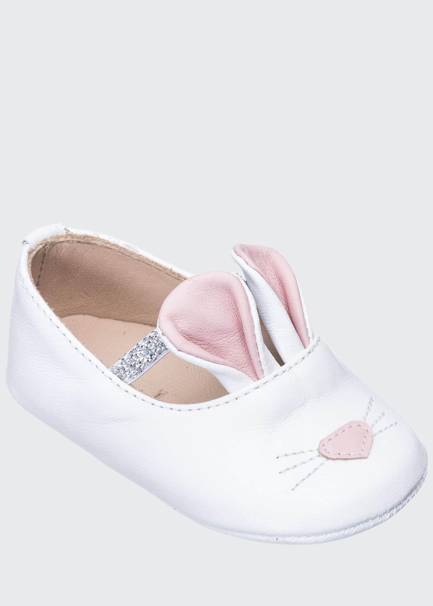 Elephantito Girls' Leather Bunny Sleeper Ballet Flat,