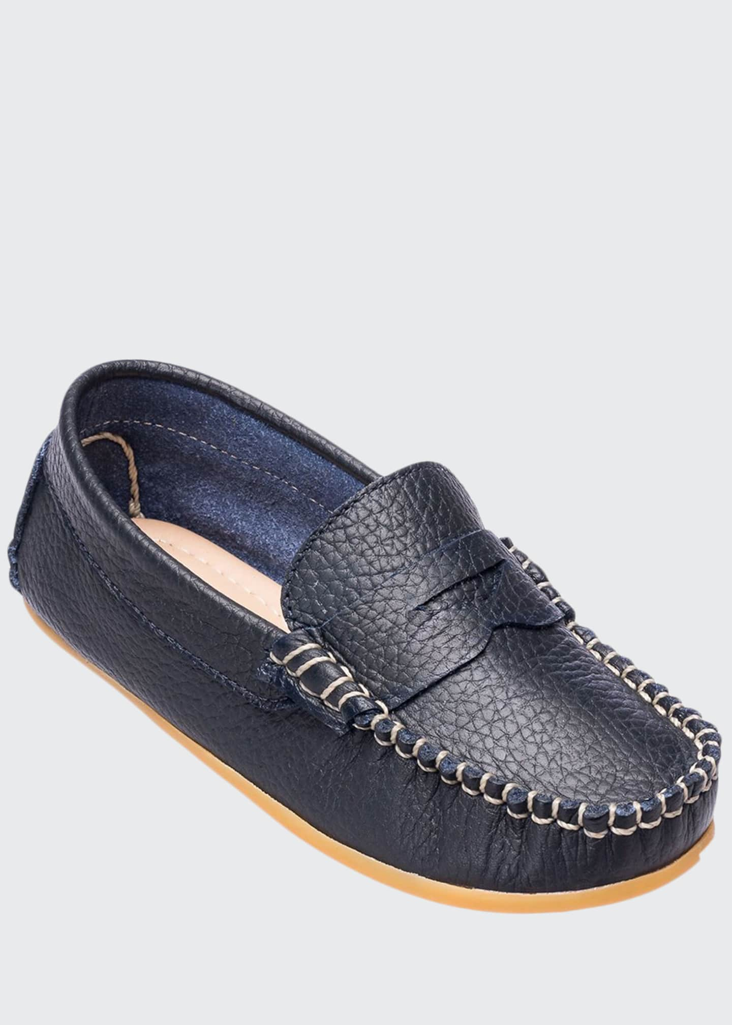 Image 1 of 2: Alex Leather Driver Loafer, Toddler