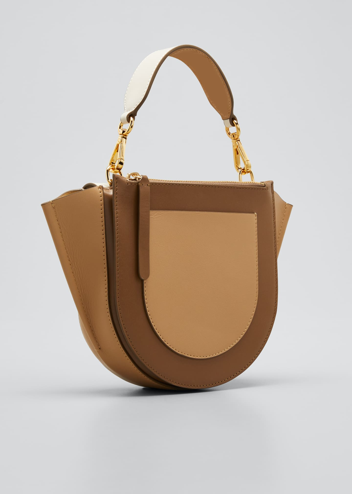 Image 3 of 5: Hortensia Mini Calf Top-Handle Bag
