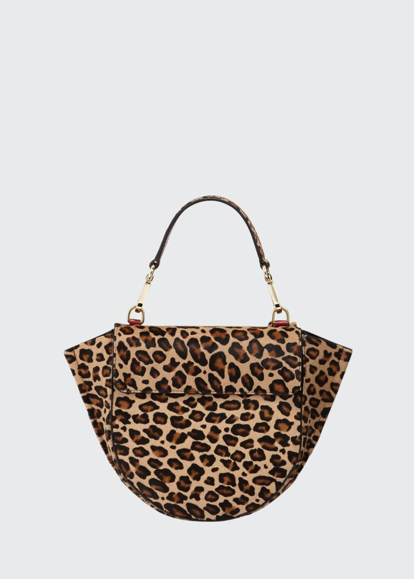 Image 1 of 3: Hortensia Leopard Calf Mini Top Handle Bag