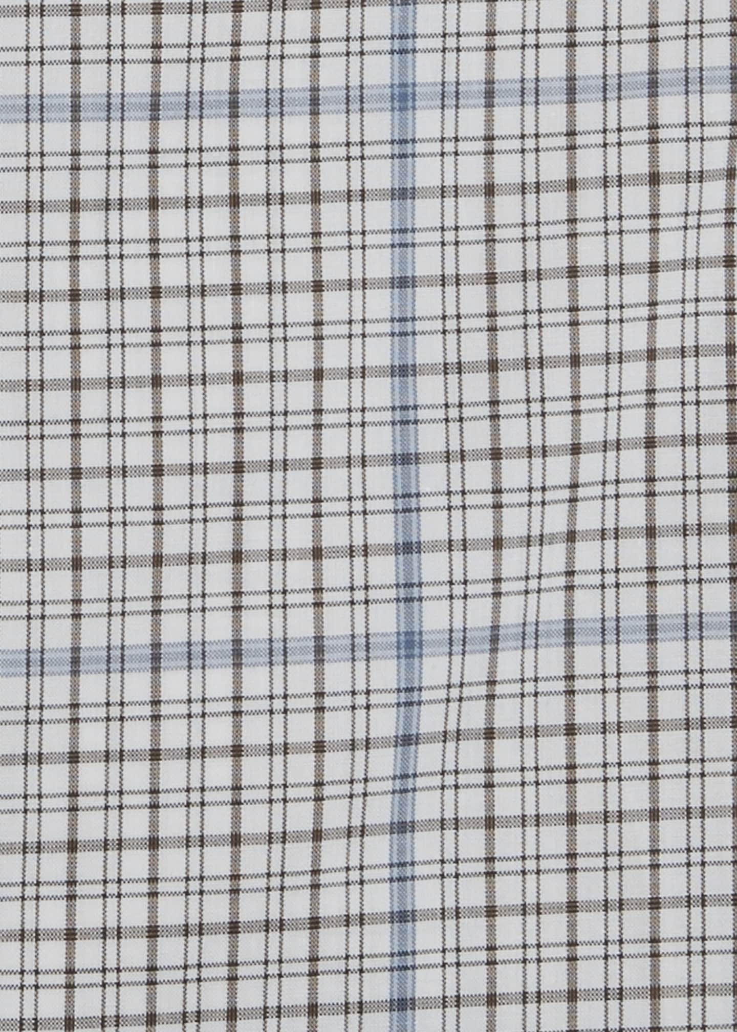 Image 2 of 4: Men's Two-Tone Check Dress Shirt