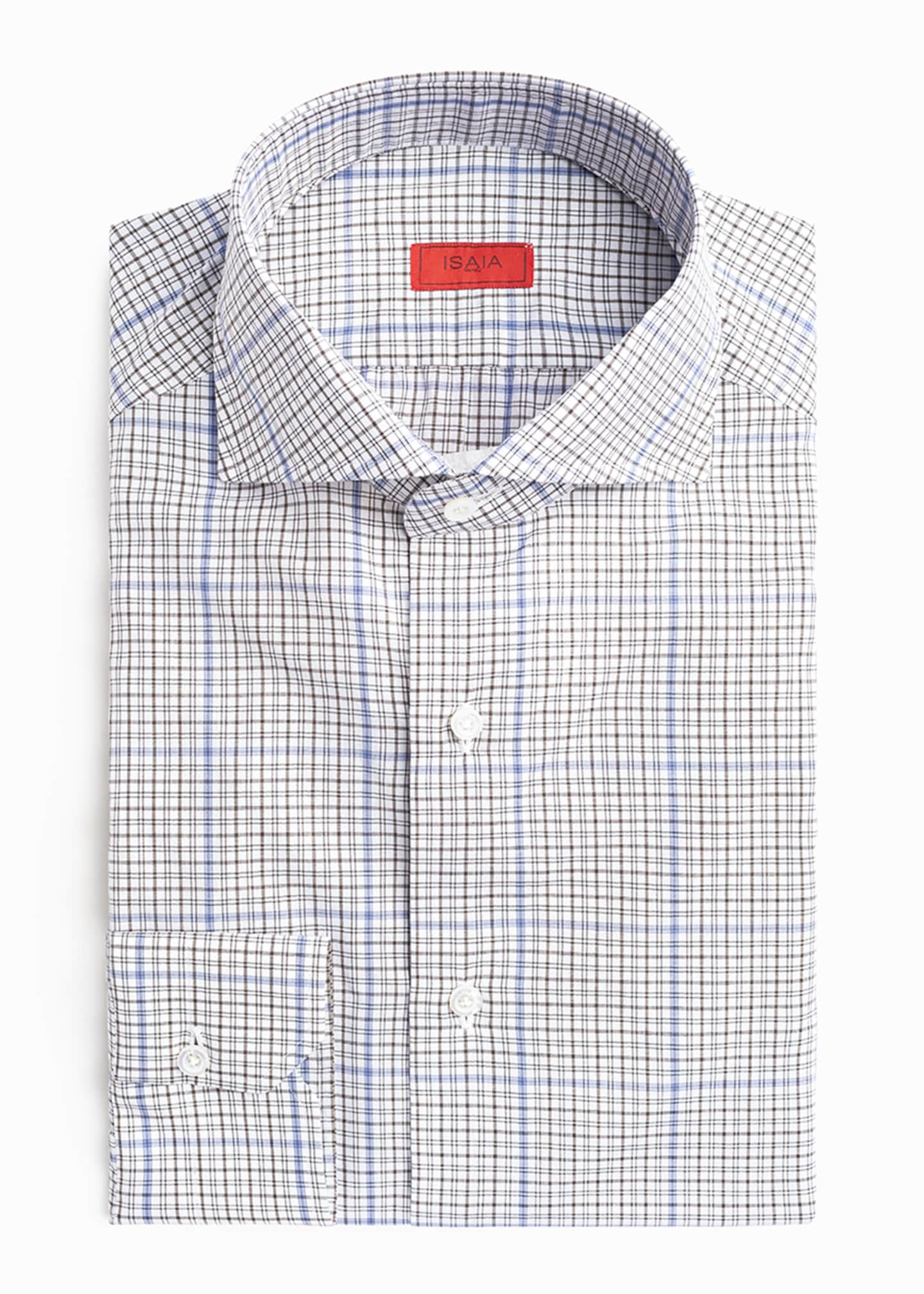 Image 3 of 4: Men's Two-Tone Check Dress Shirt