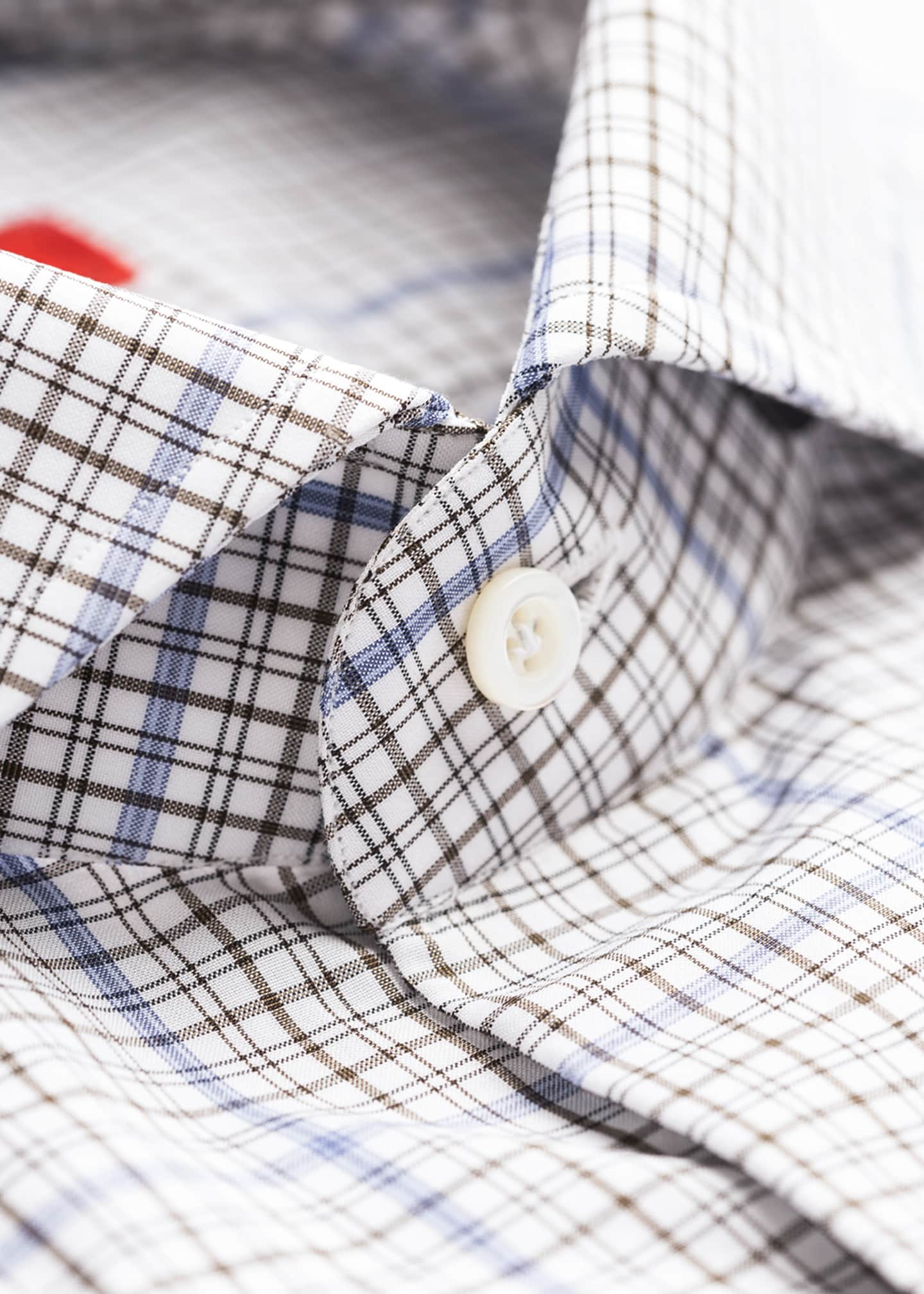 Image 4 of 4: Men's Two-Tone Check Dress Shirt