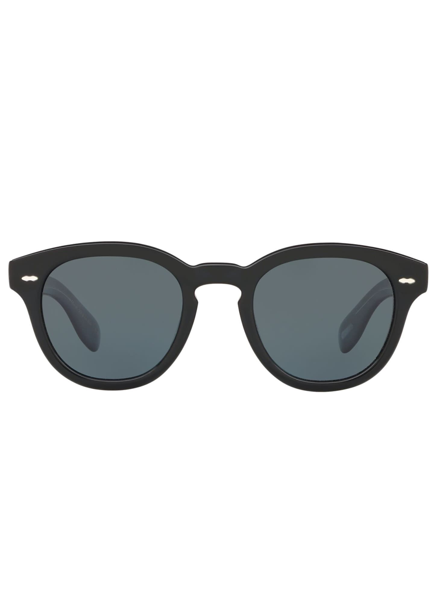 Image 2 of 2: Men's Rounded Bold Acetate Sunglasses