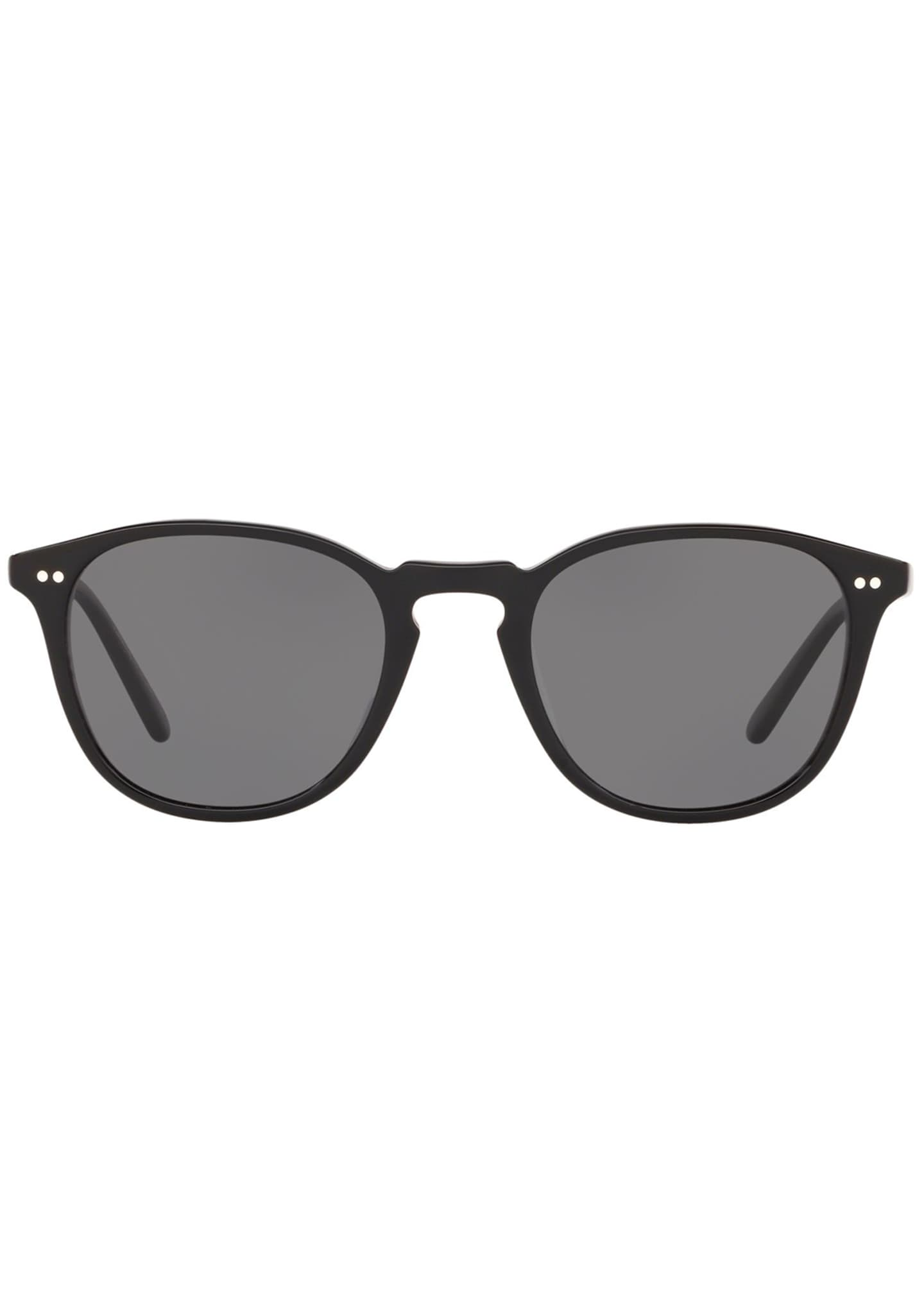 Image 2 of 2: Men's Forman L.A. Polarized Round Acetate Sunglasses