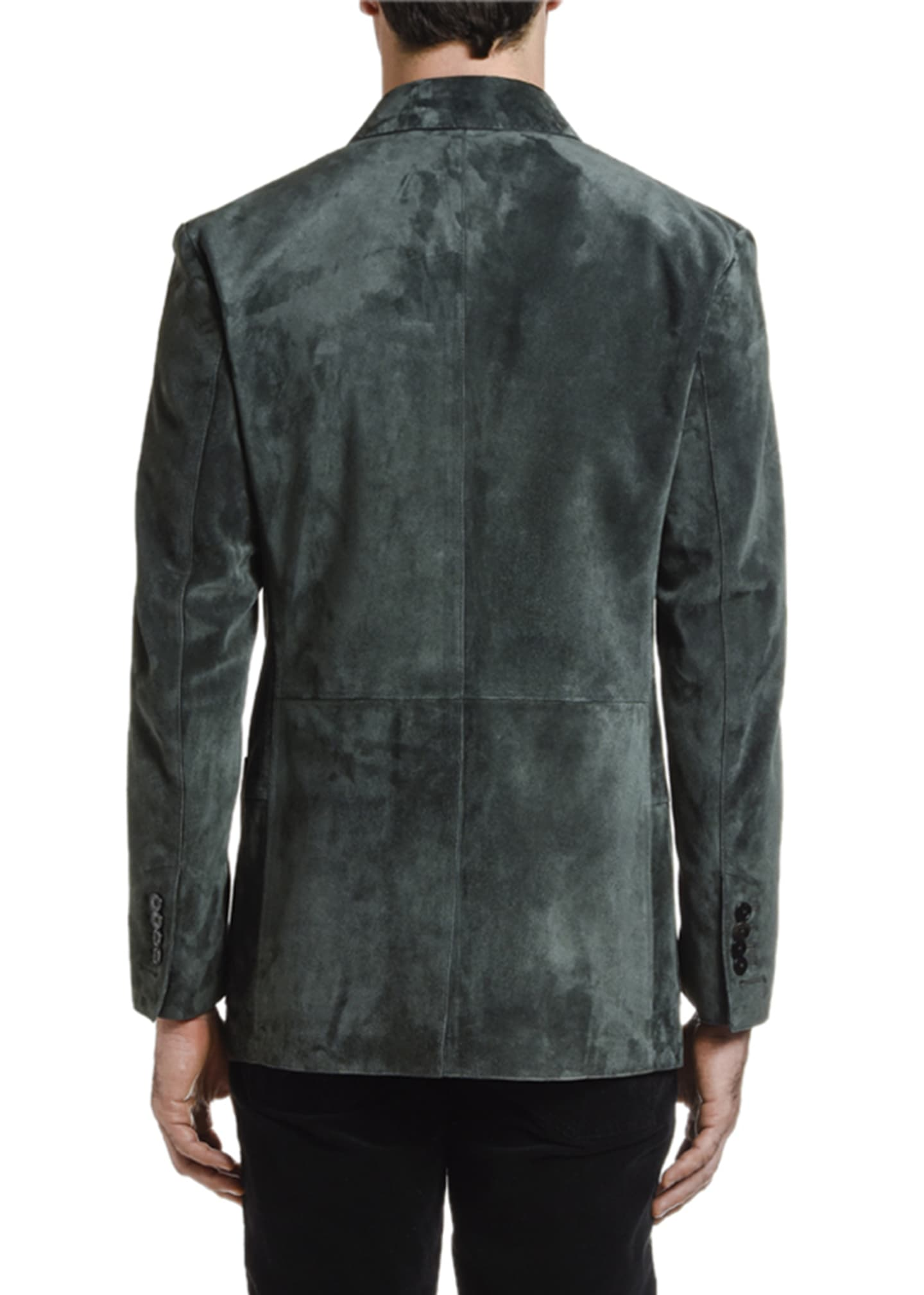 Image 4 of 4: Men's Suede Two-Button Jacket