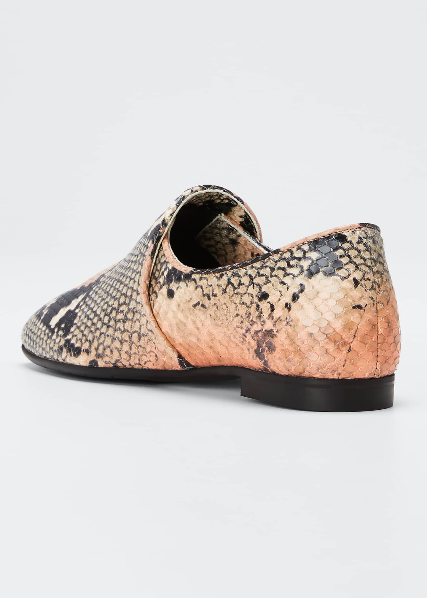 Image 2 of 3: Revy Flat Snake-Print Loafers