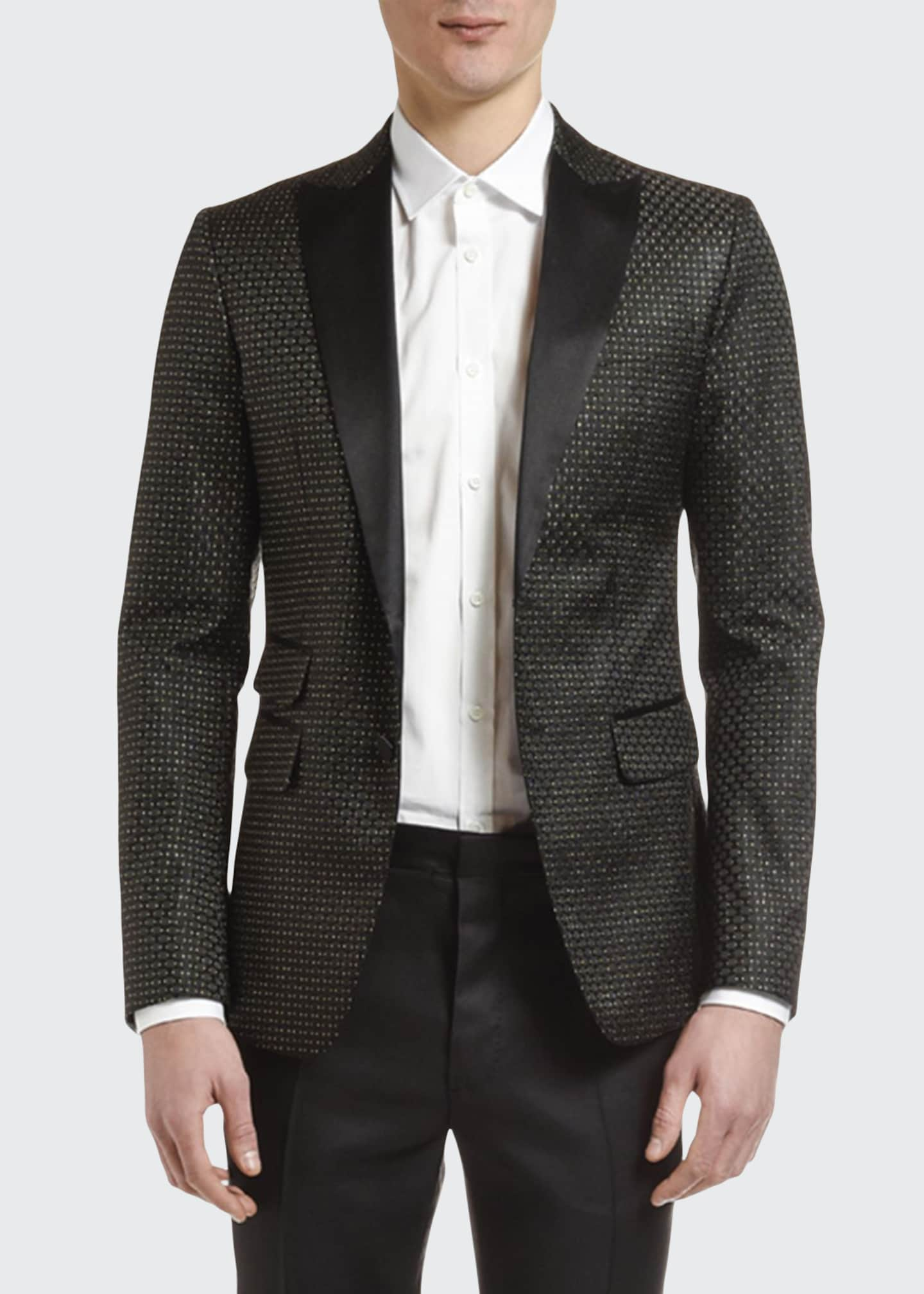 Dsquared2 Men's Textured Silk-Blend Evening Jacket