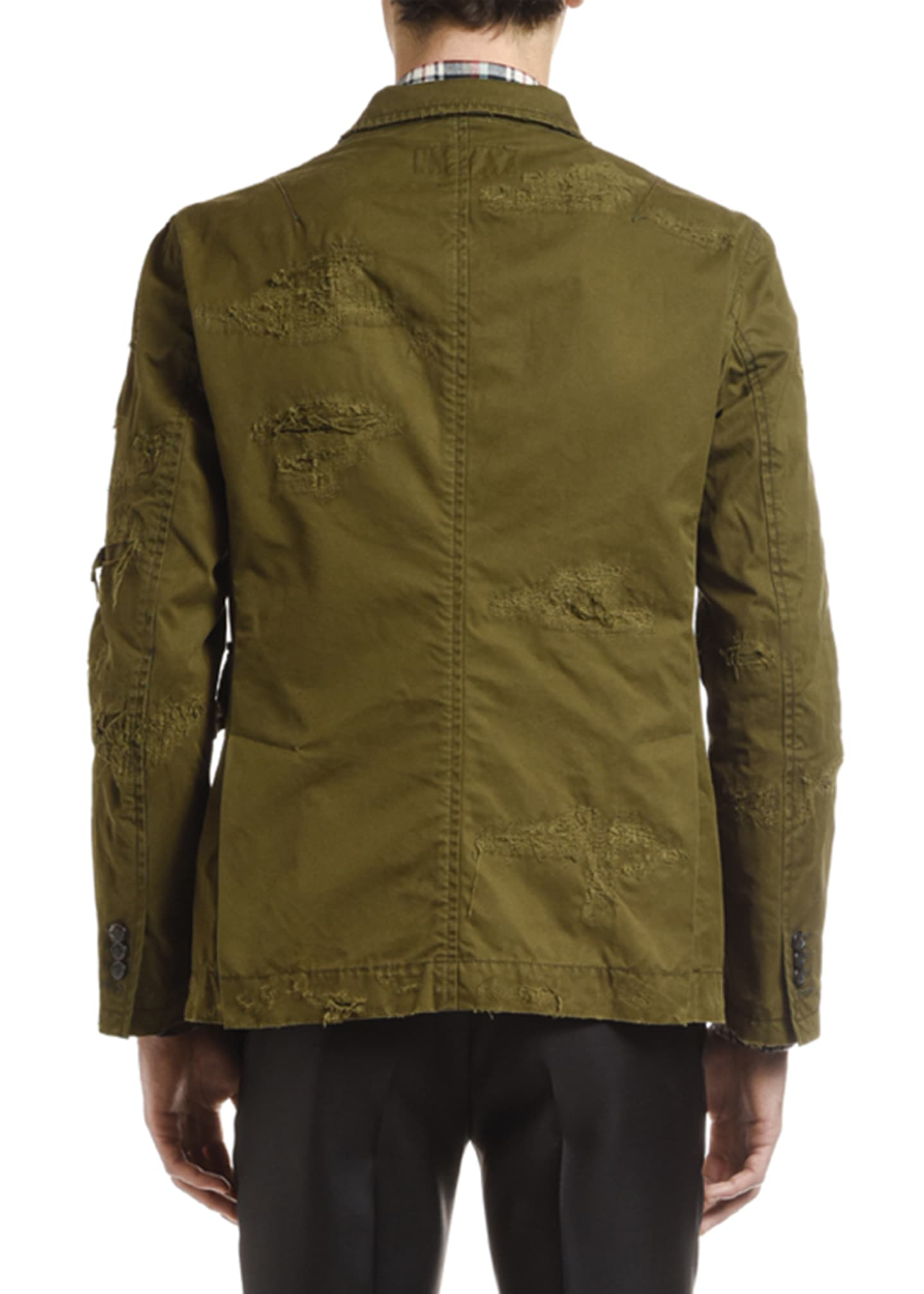 Image 2 of 2: Men's Distressed Chino Field Jacket