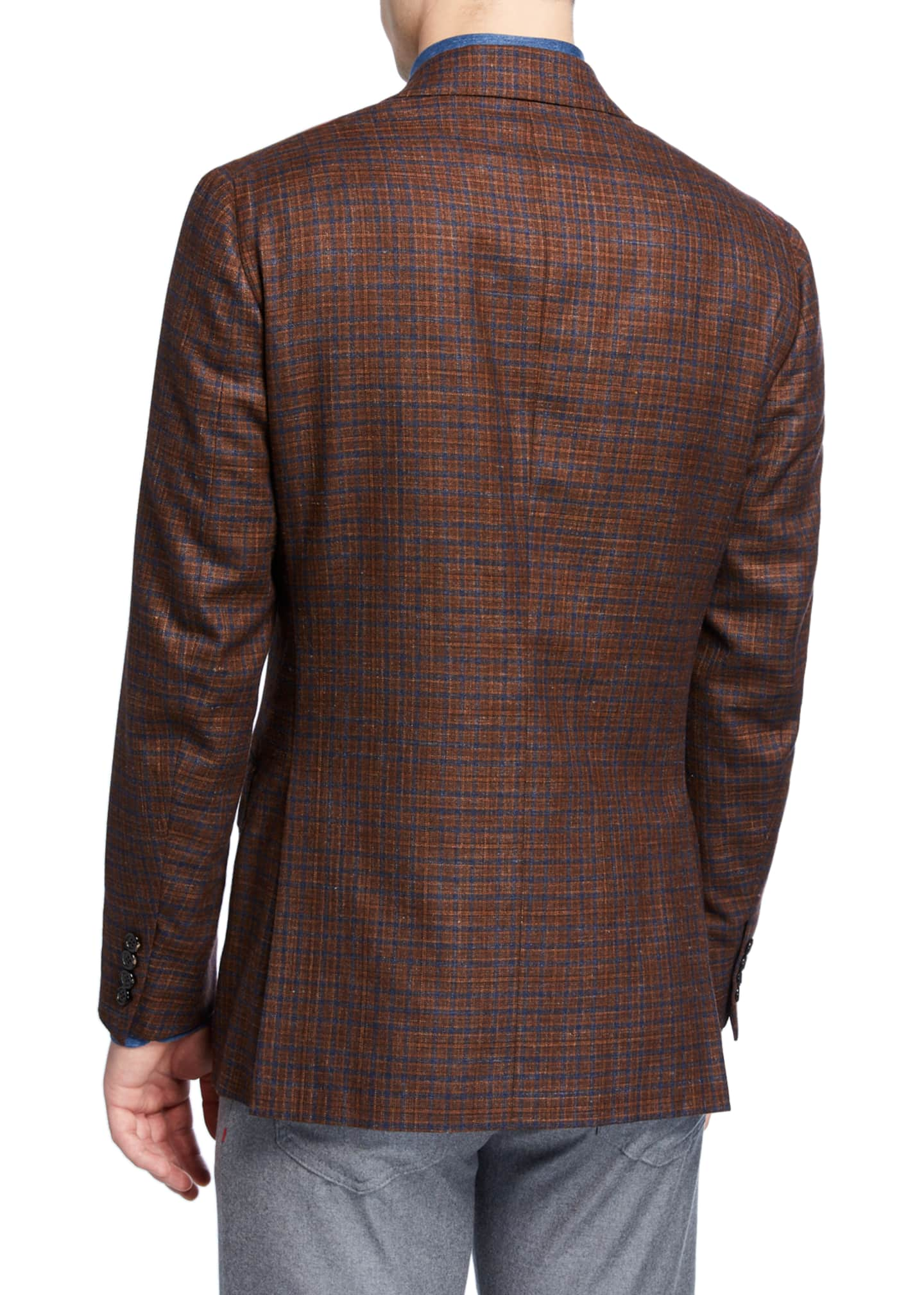 Image 2 of 3: Men's Plaid Wool-Blend Sport Coat