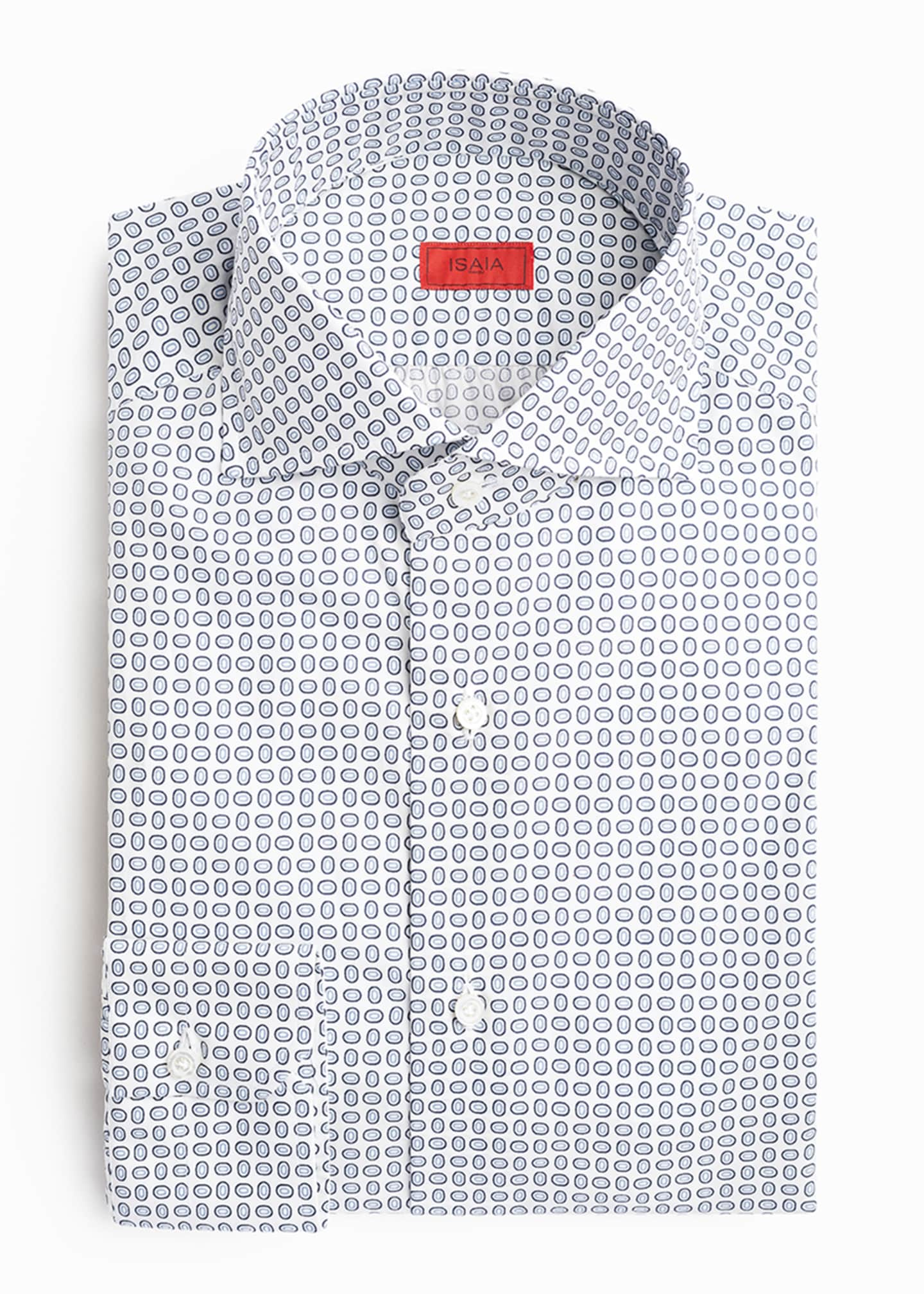 Image 3 of 4: Men's Oval-Pattern Dress Shirt