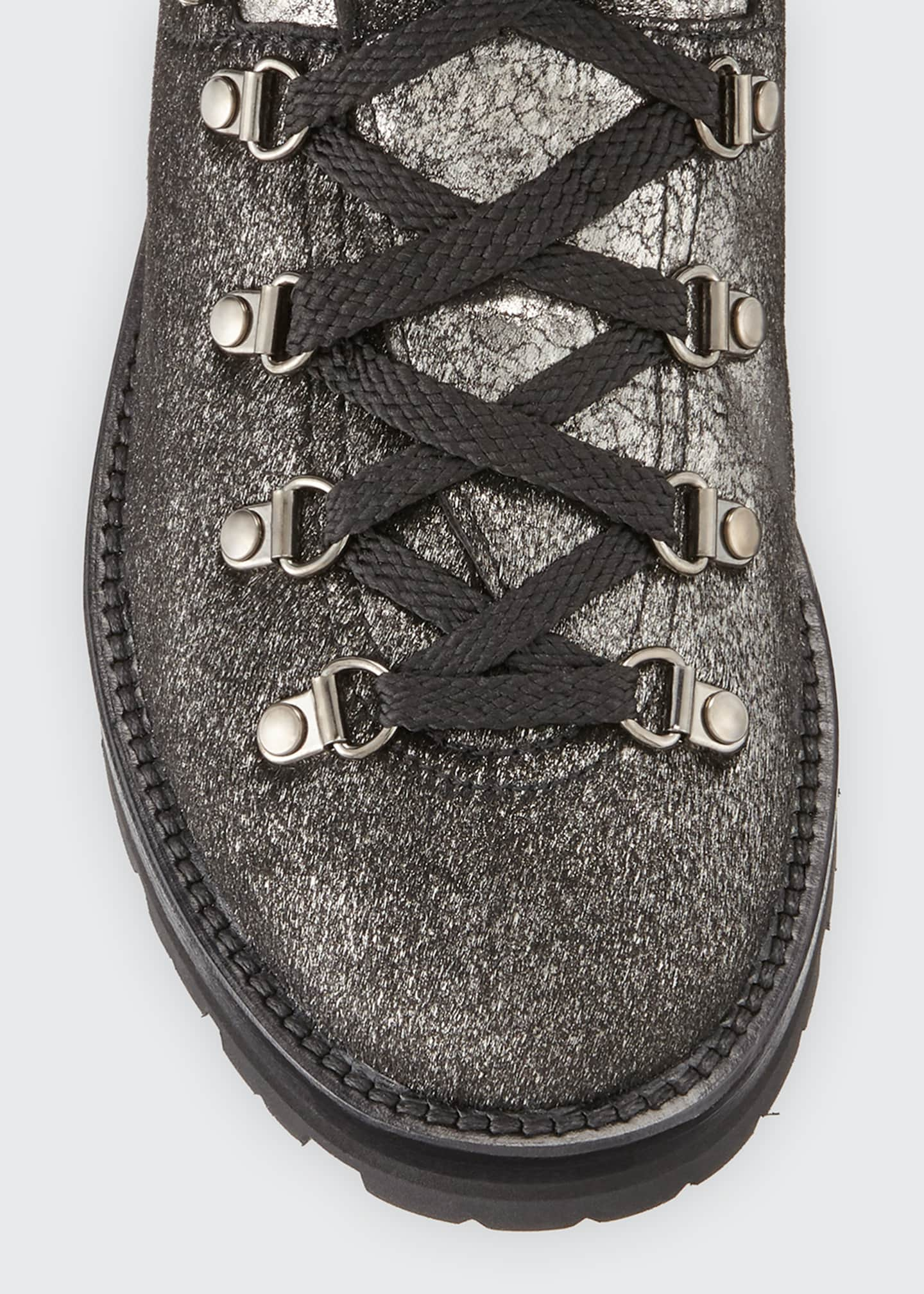 Image 3 of 3: Blanche Glitter Lace-Up Scarpa Boots