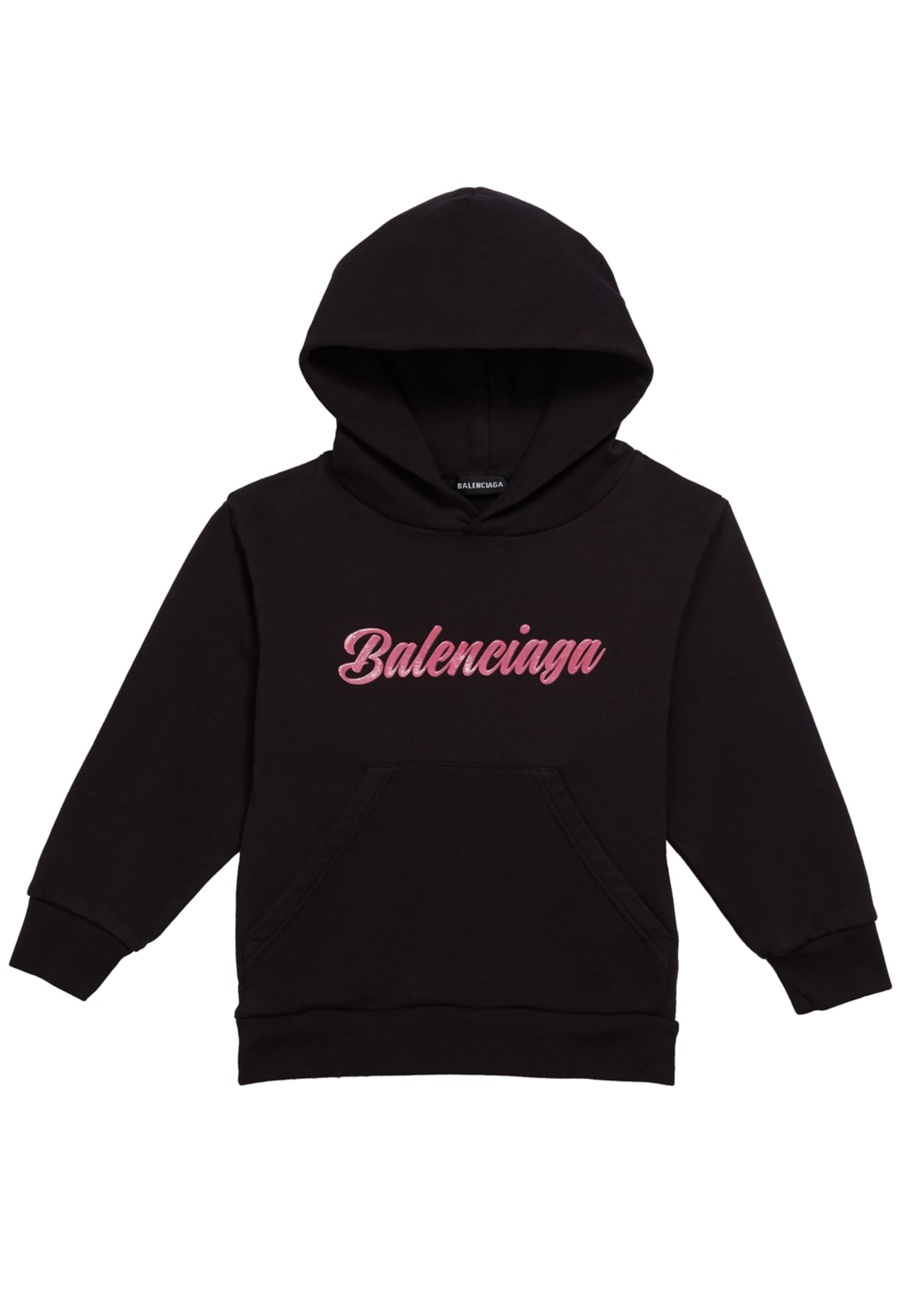 Balenciaga Kid's Classic Opulence Logo Hoodie, Size 2-10