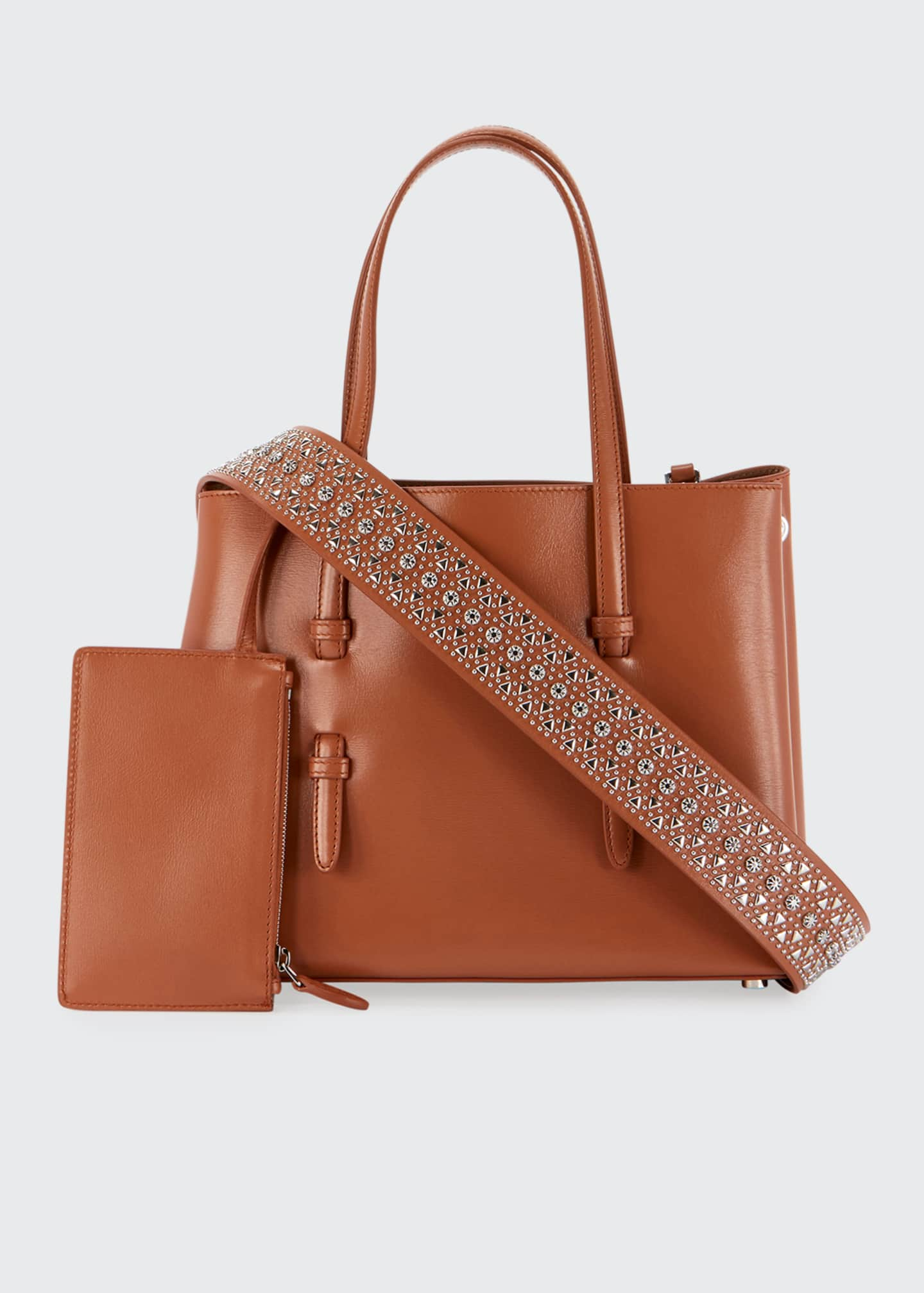 Image 4 of 4: Mina Vienne Small Lux Tote Bag