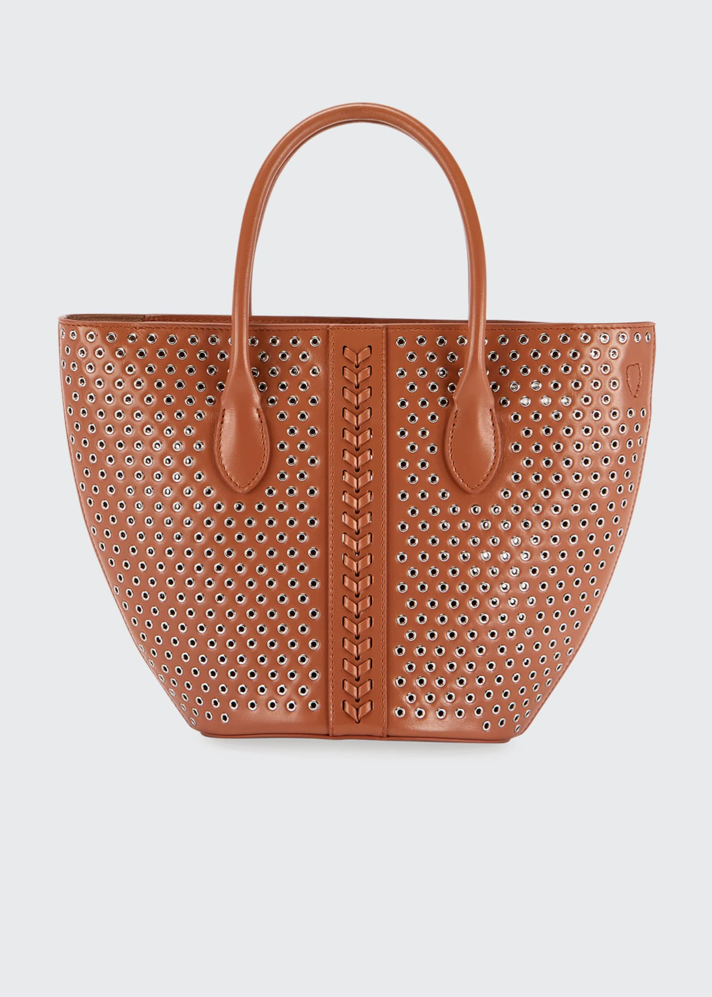 Image 2 of 4: Latifa Mini Cuir Lux Tote Bag