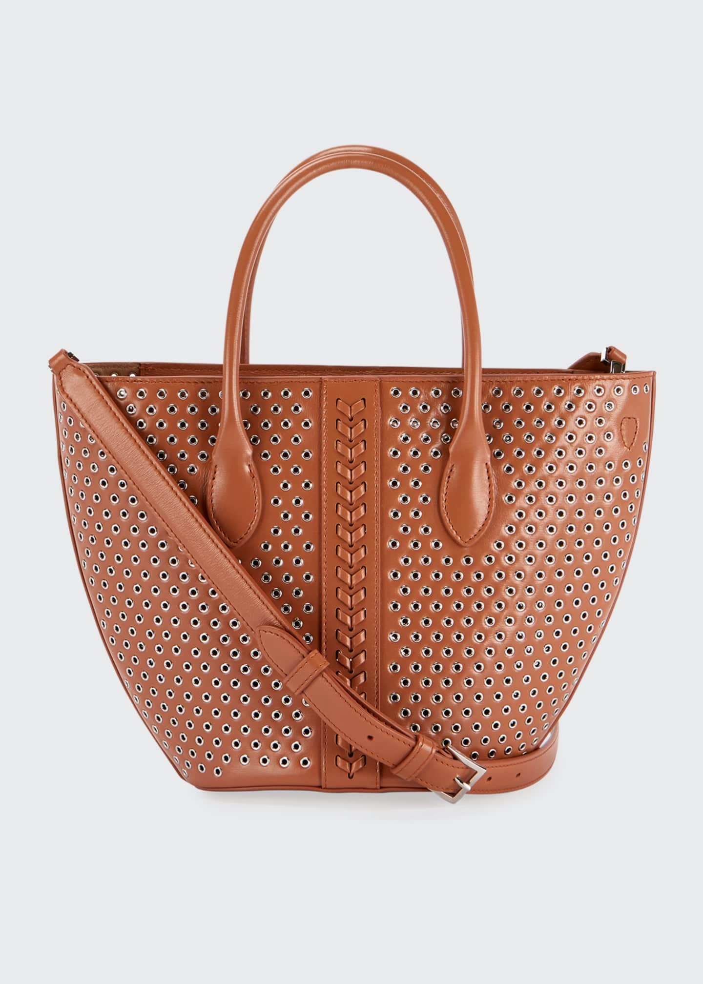 Image 1 of 4: Latifa Mini Cuir Lux Tote Bag