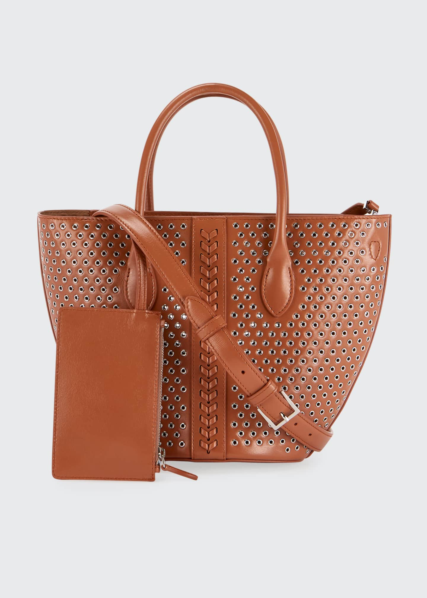 Image 4 of 4: Latifa Mini Cuir Lux Tote Bag