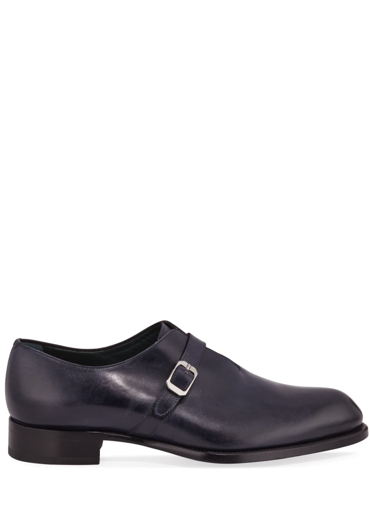 Image 3 of 3: Men's Benedict Monk-Strap Loafers