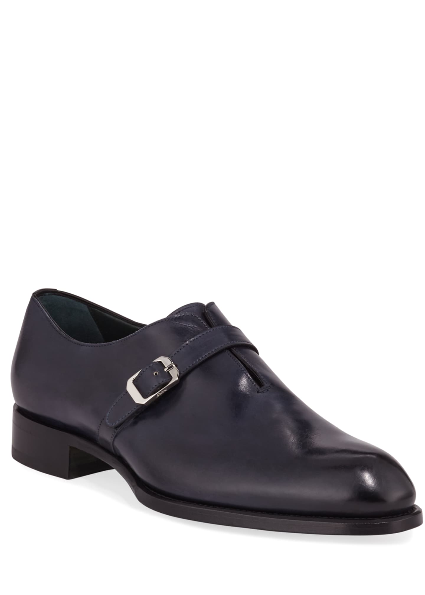 Image 1 of 3: Men's Benedict Monk-Strap Loafers