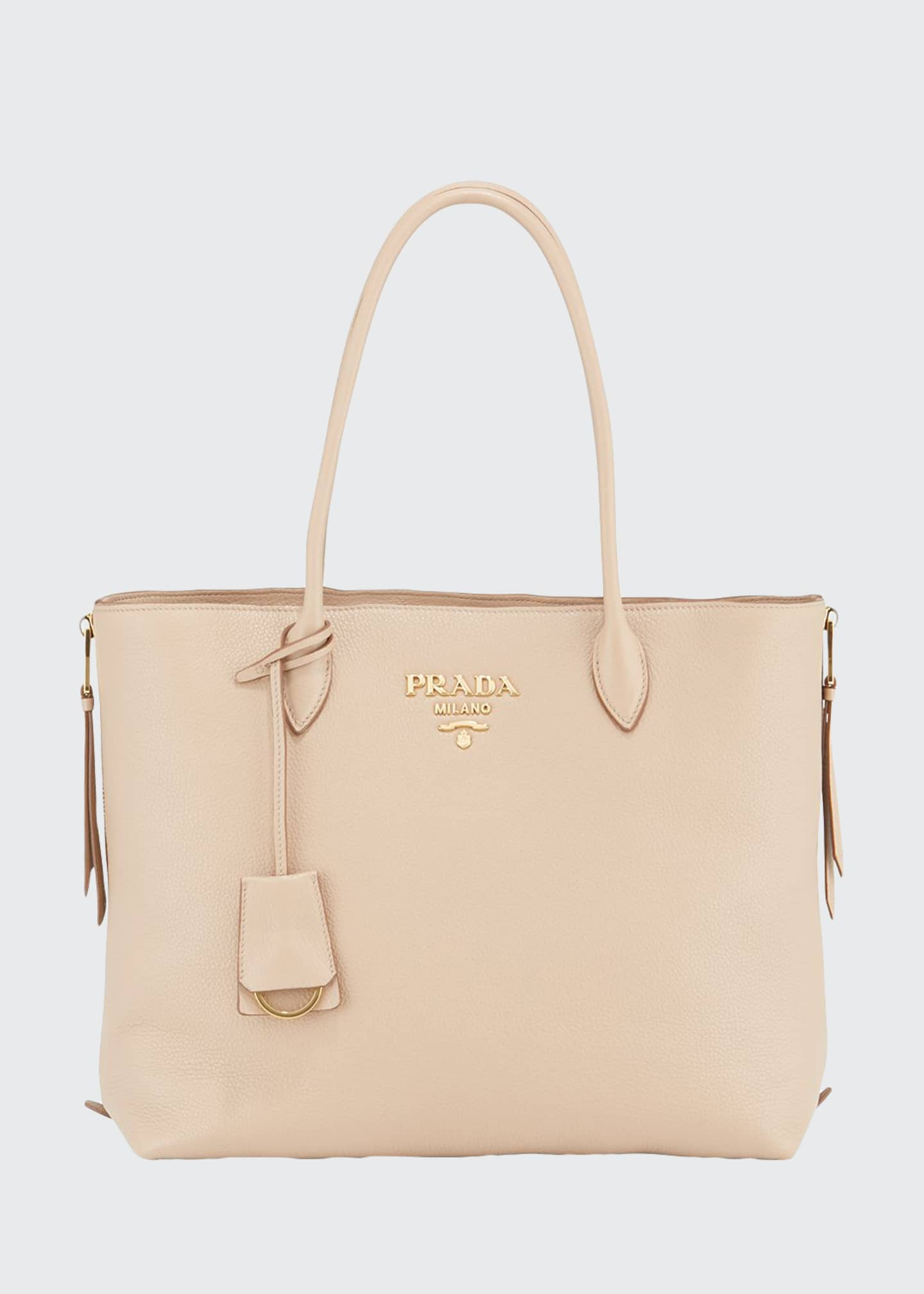 Prada Daino Shopper with Side Zips