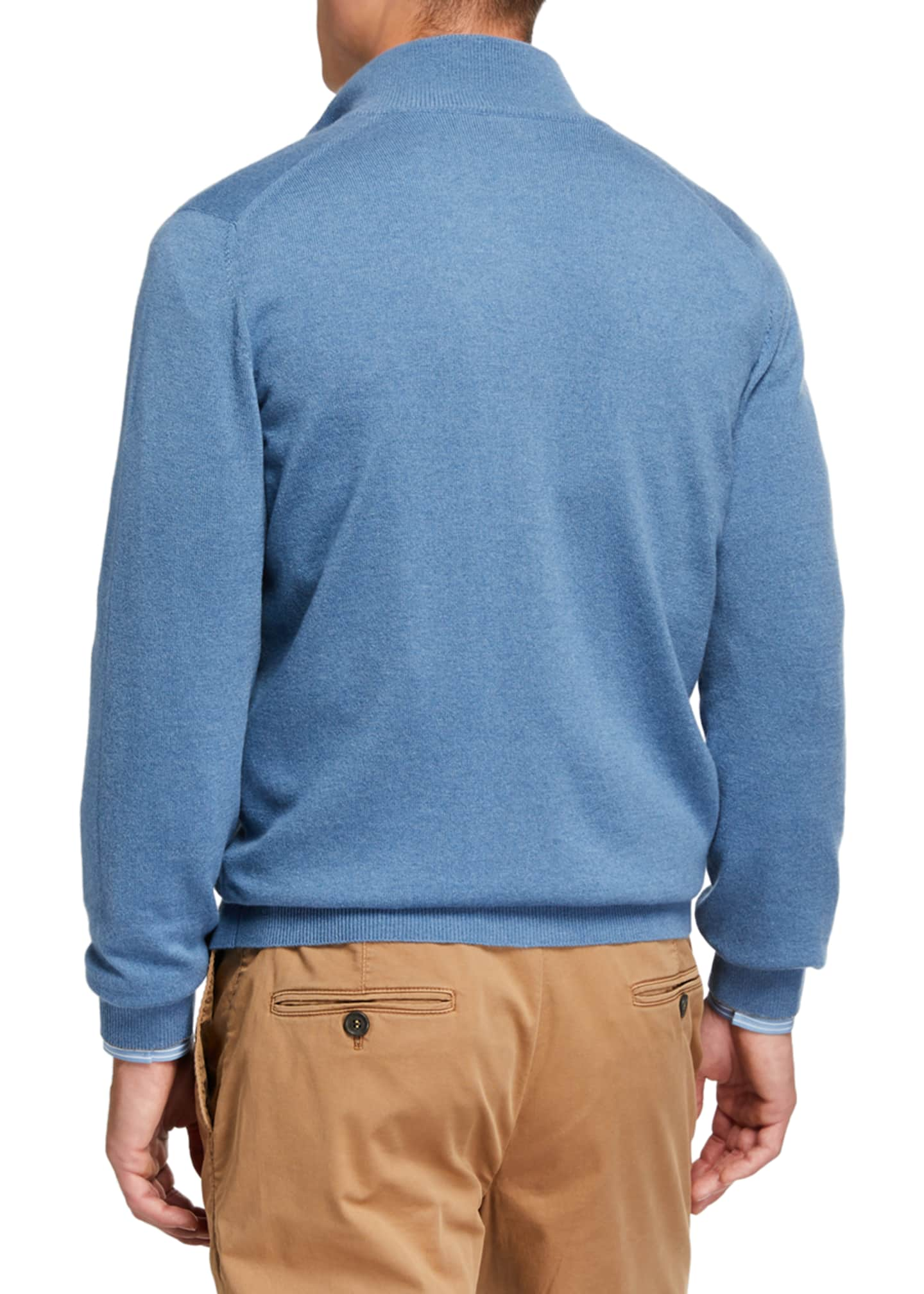 Image 3 of 3: Men's Cashmere Zip-Front Sweater
