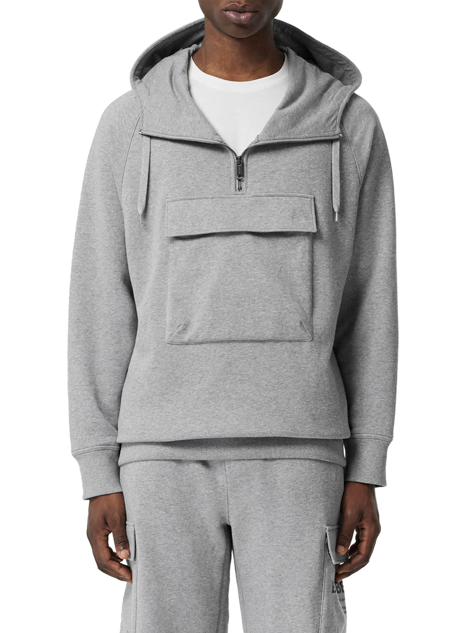 Burberry Men's Hooded Pullover Sport Shirt