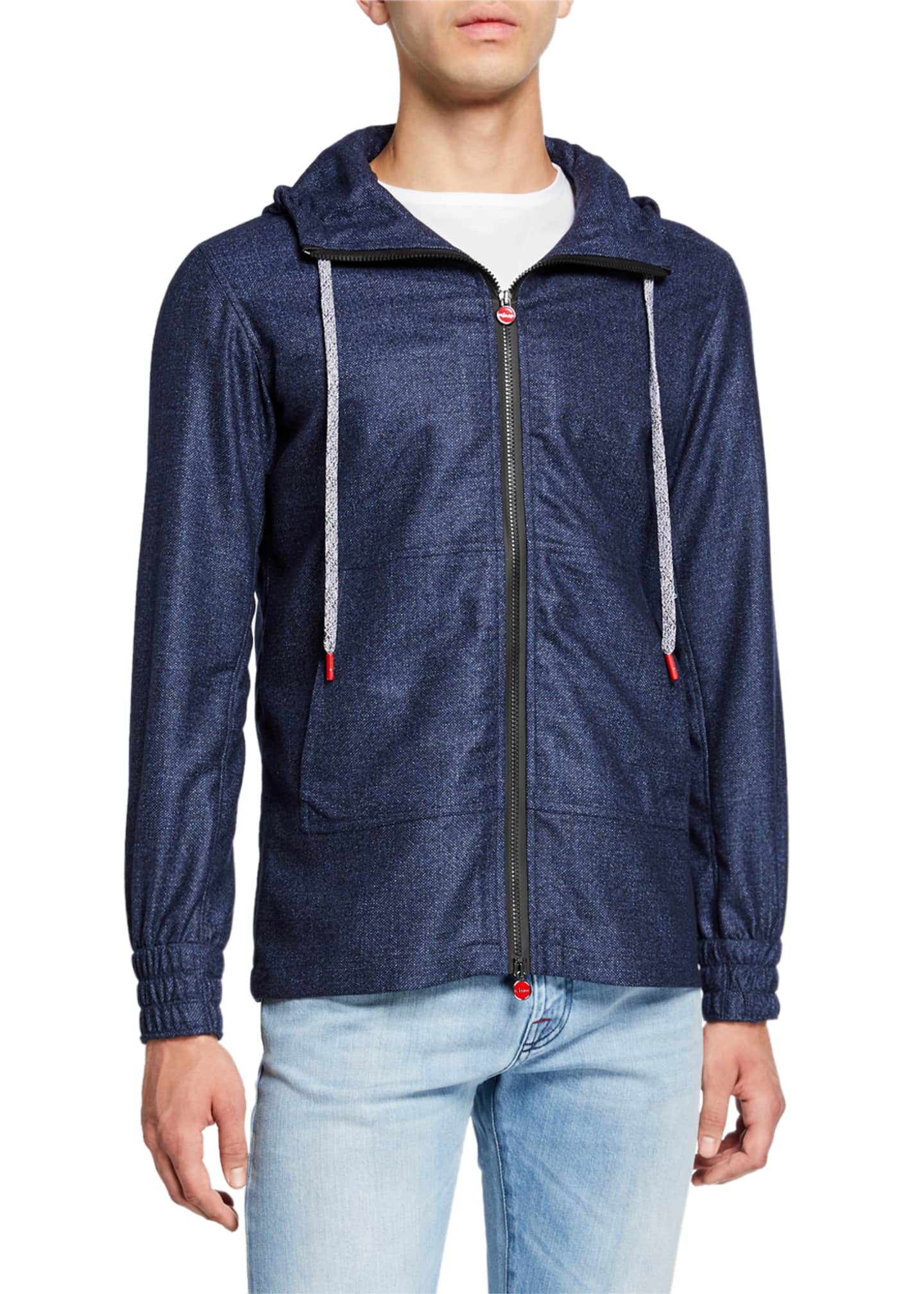 Image 2 of 4: Men's Tic-Weave Zip-Front Hoodie