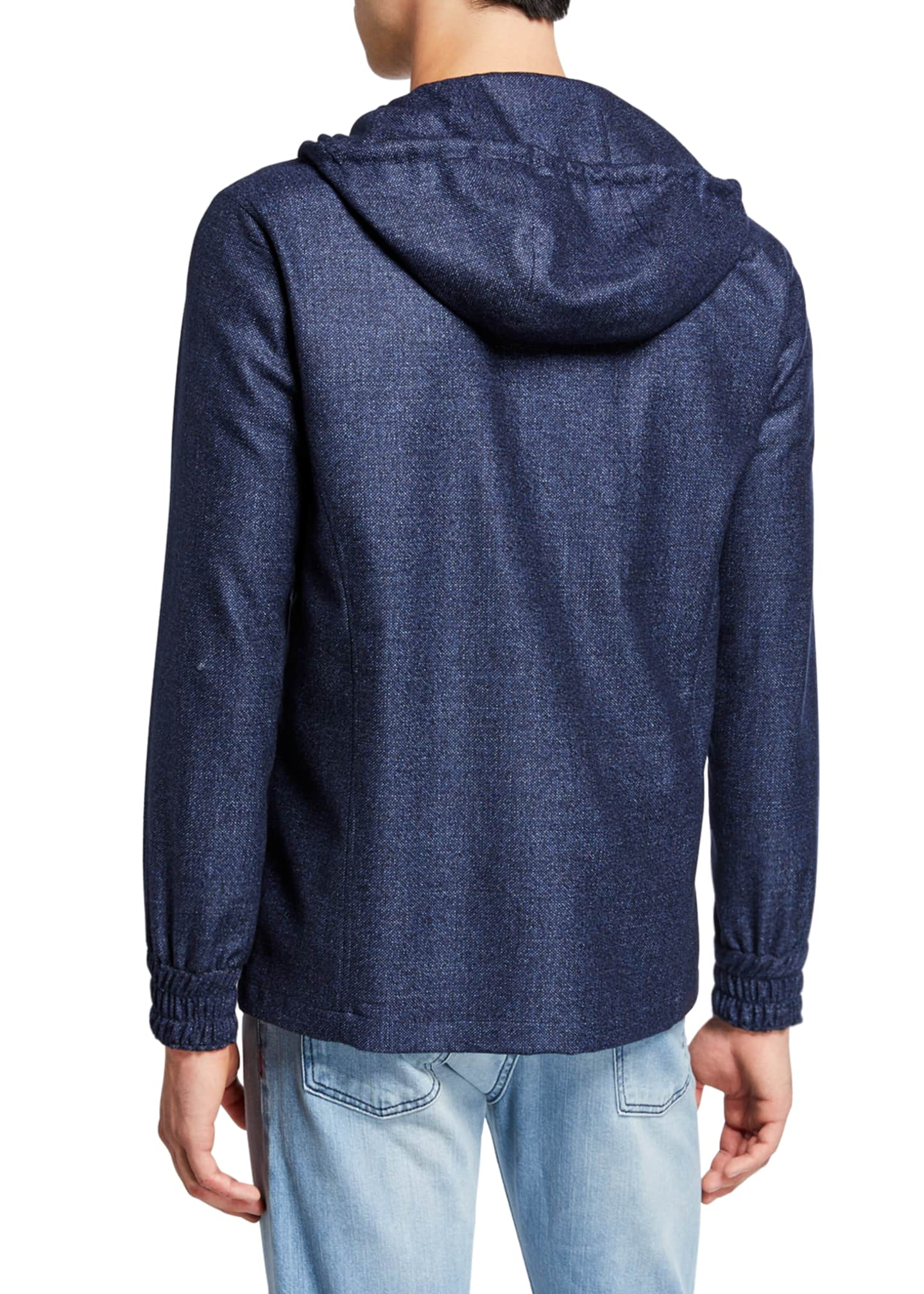 Image 3 of 4: Men's Tic-Weave Zip-Front Hoodie