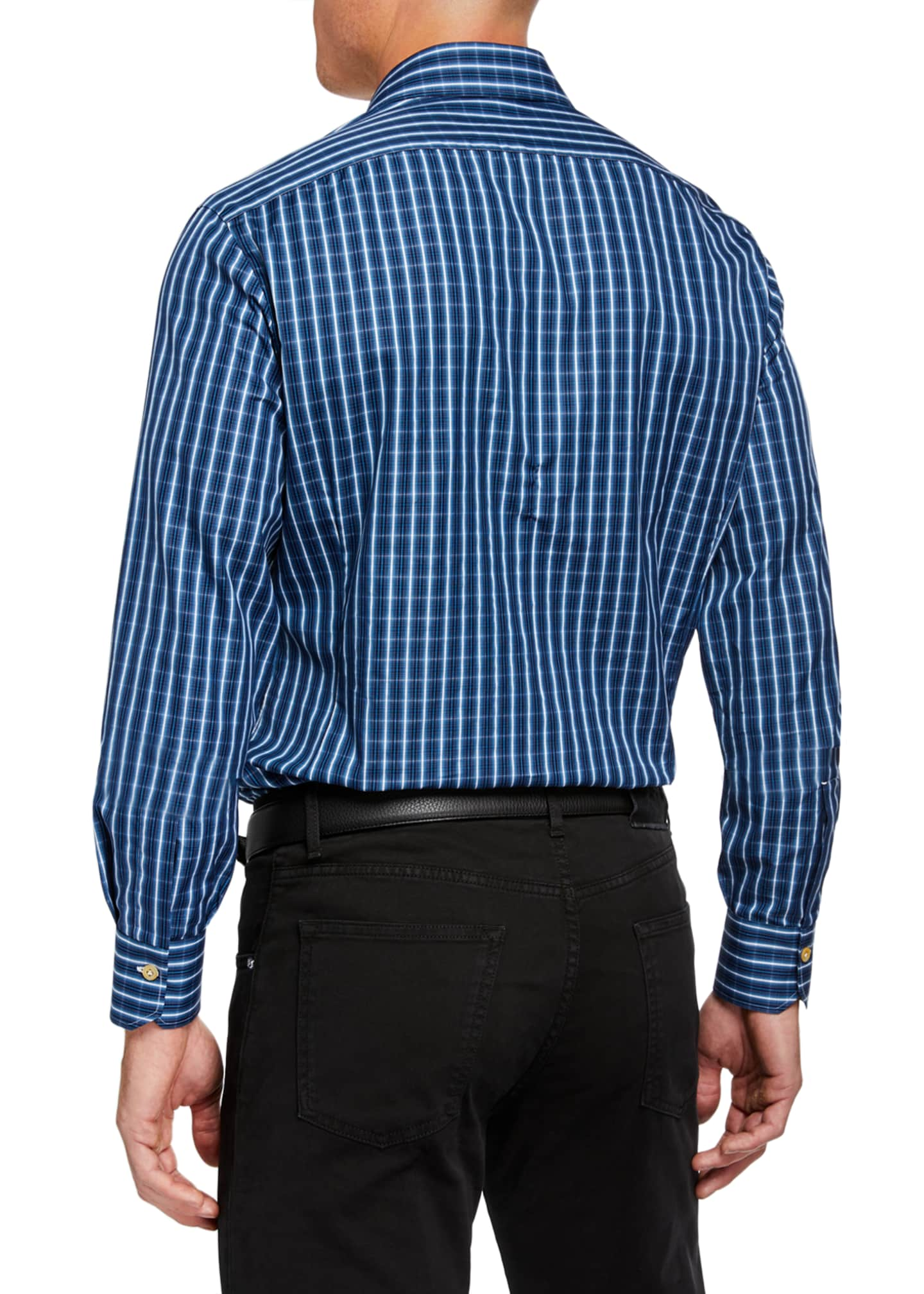 Image 2 of 3: Men's Long-Sleeve Check Sport Shirt