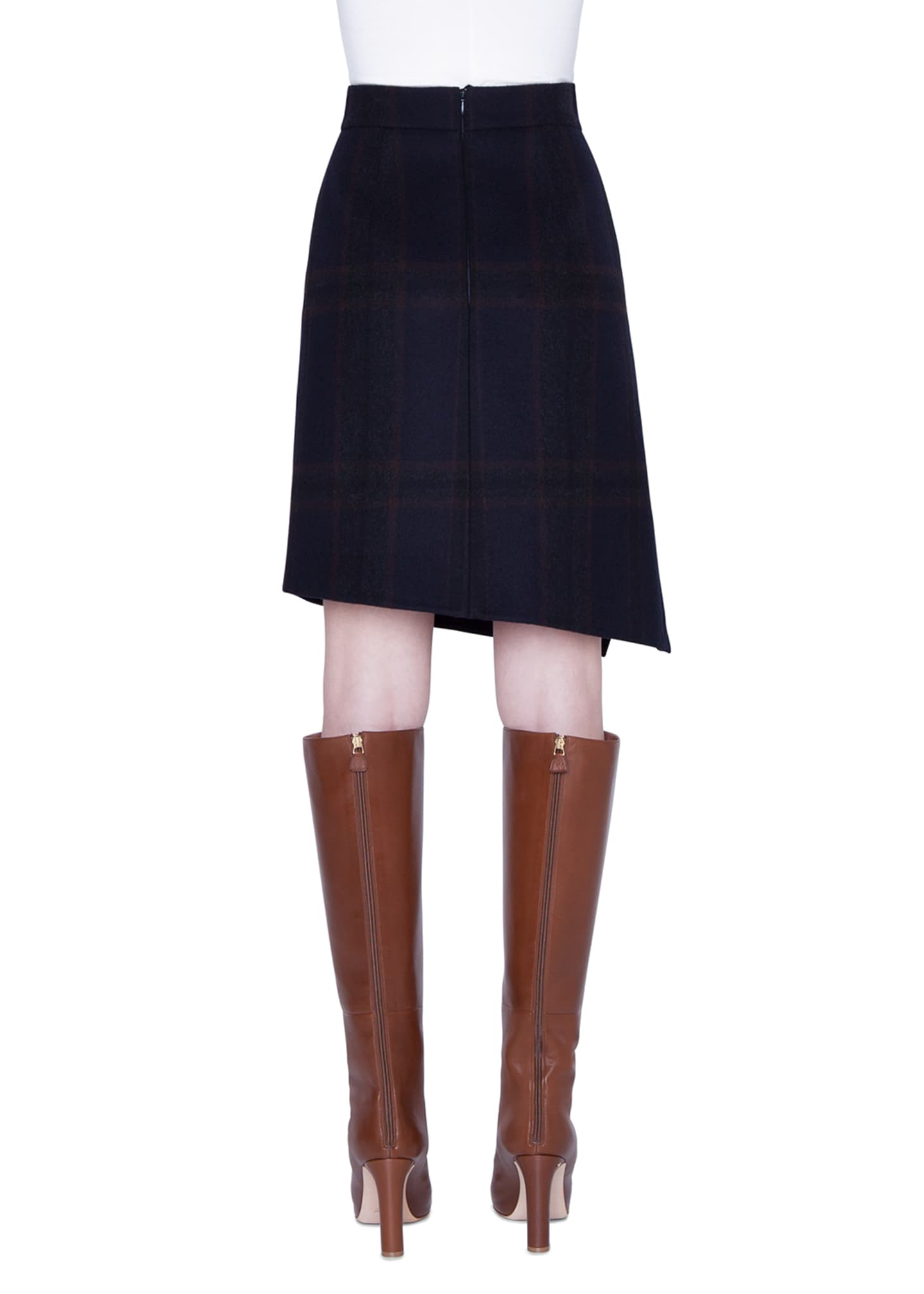 Image 2 of 3: Cashmere Plaid Double-Face Skirt