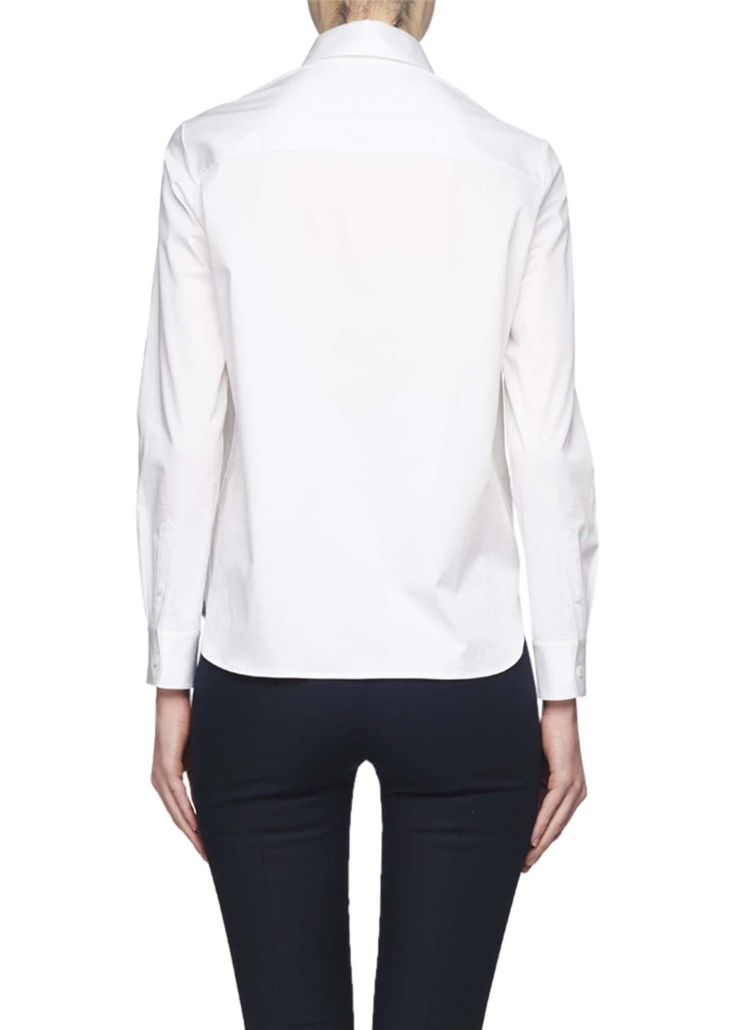 Image 2 of 2: Yssetra Slim Button-Front Cotton Shirt