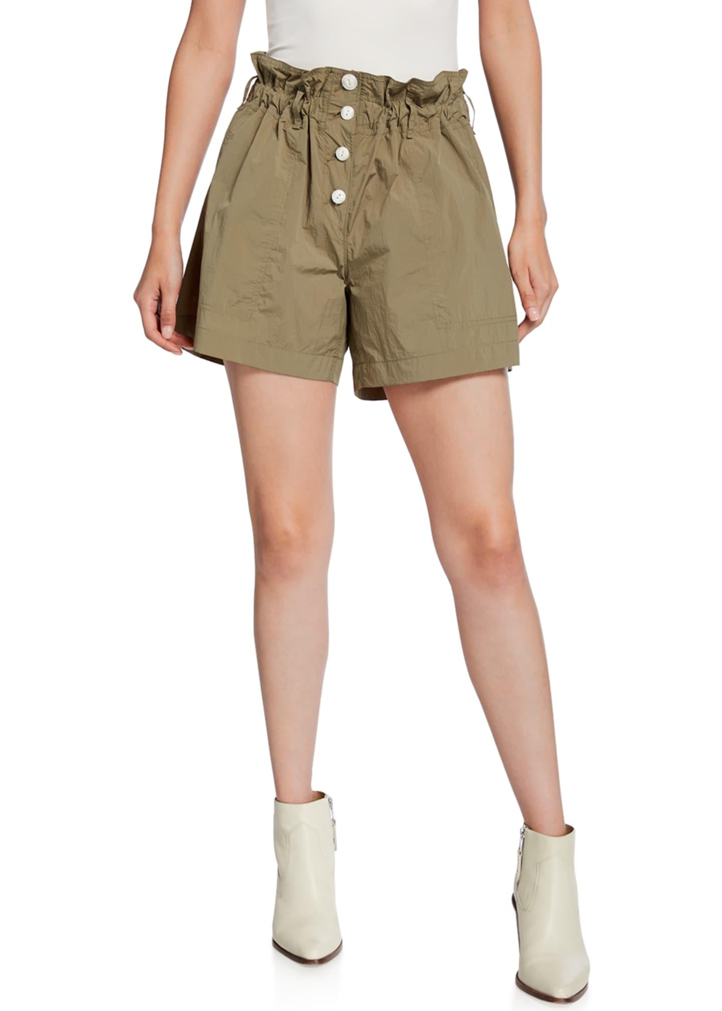 Rag & Bone Glenn Paperbag Button-Fly Cargo Shorts