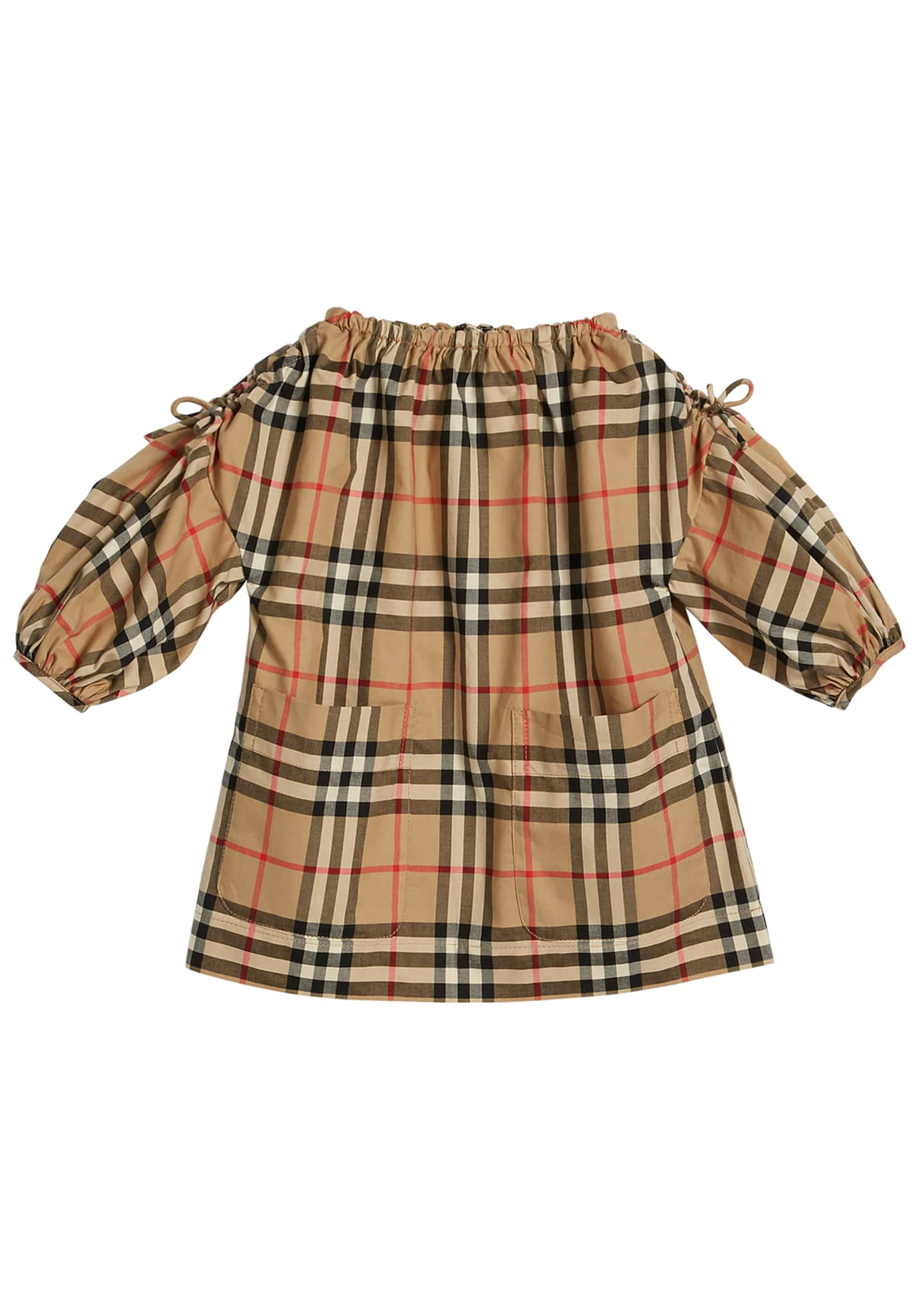Burberry Alenka Archive Check Long-Sleeve Dress, Size 6M-2